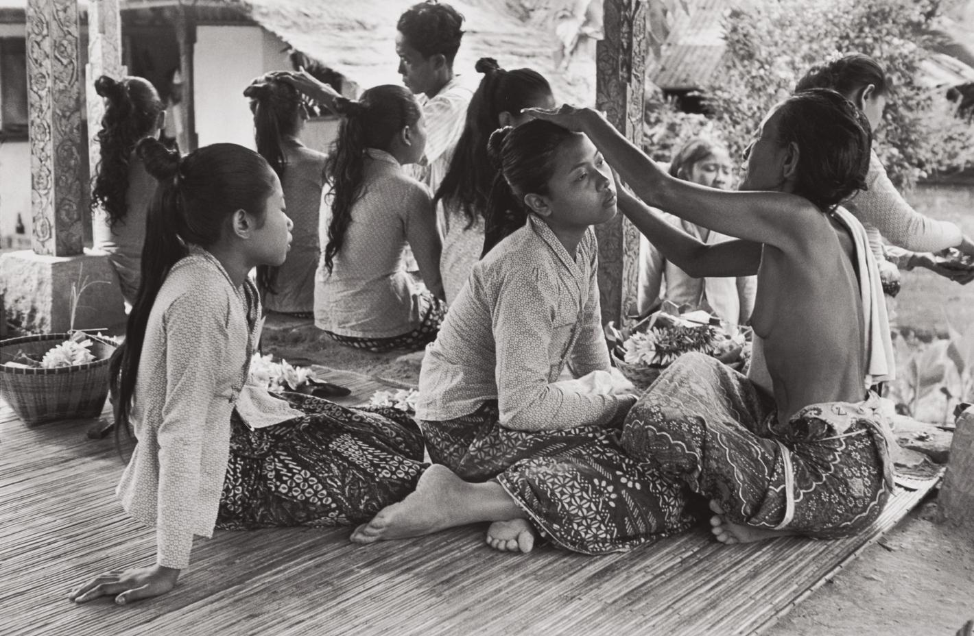Henri Cartier-Bresson-Preparations For The Baris Dance, Ubud, Bali, Indonesia-1949