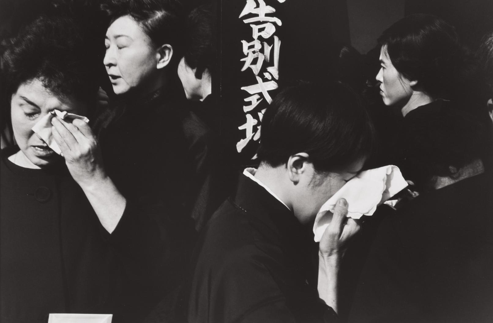 Henri Cartier-Bresson-Shinto Funeral For The Late Kabuki Actor, Ichikawa Danjuro Xi, Tokyo, Japan-1965