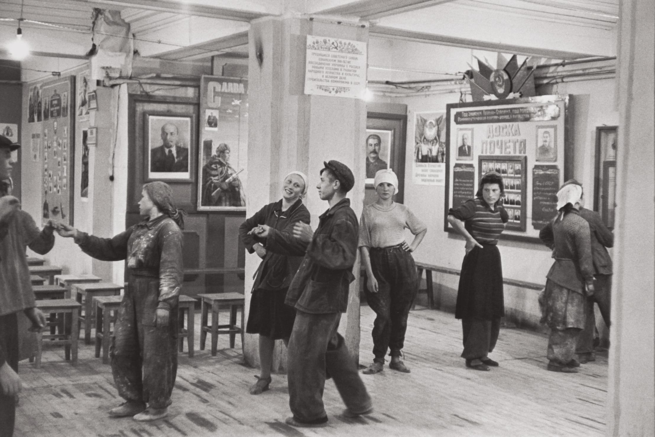 Henri Cartier-Bresson-Canteen For Workers Building The Hotel Metropol, Moscow, Ussr-1954