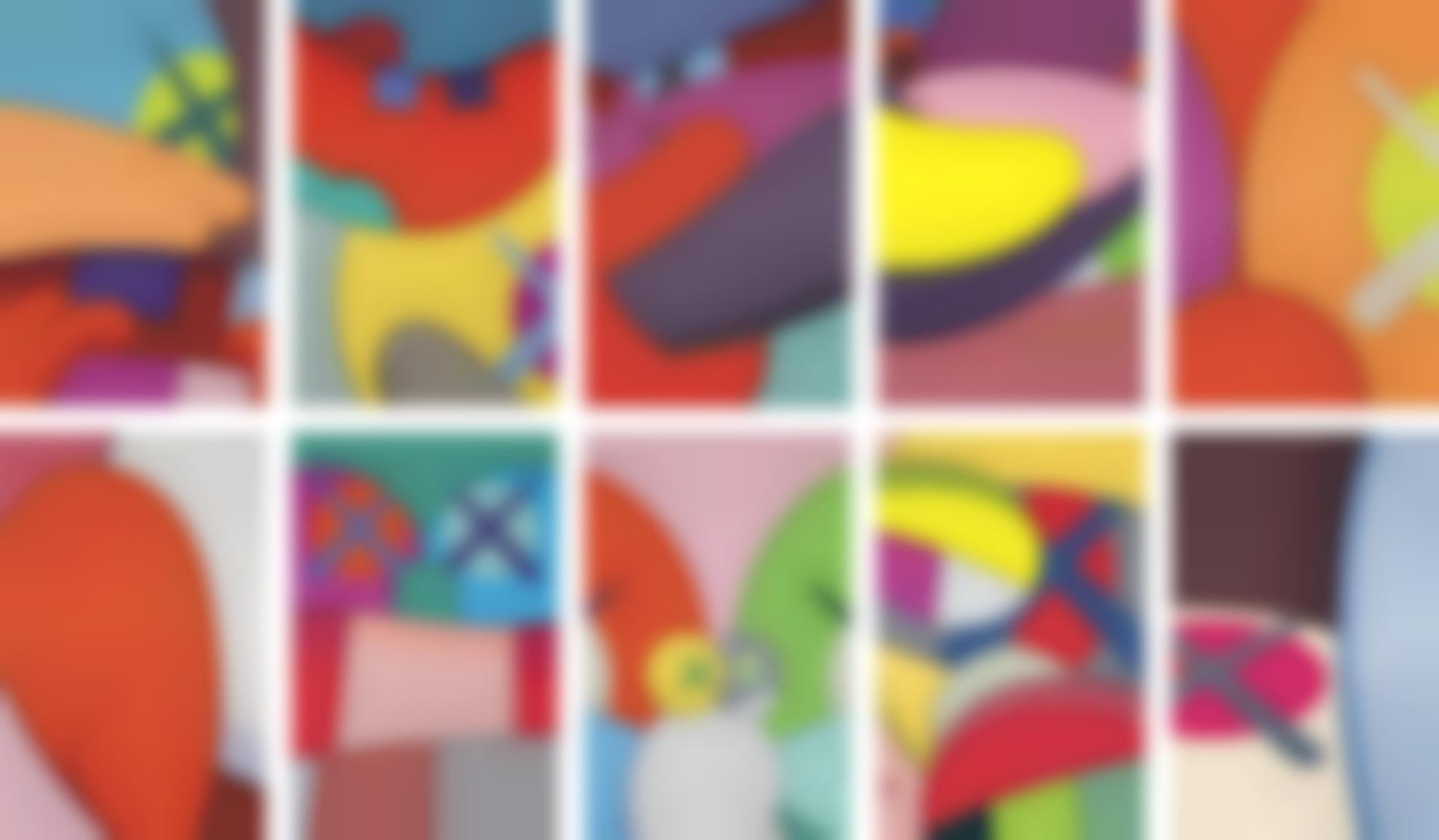 KAWS-No Reply (A Complete Set Of Ten Prints)-2015