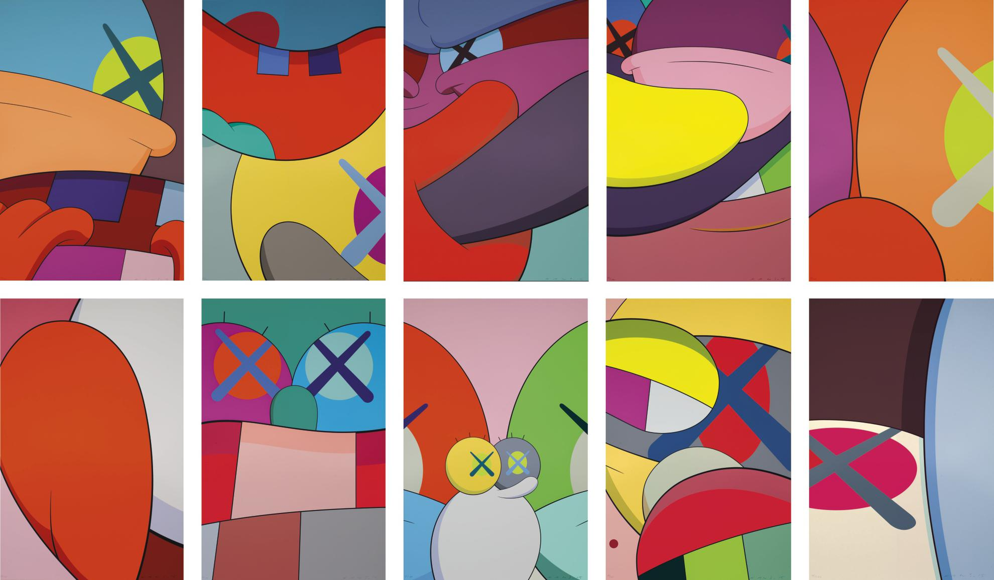KAWS-No Reply (A Complete Set Of Ten Prints)-2015