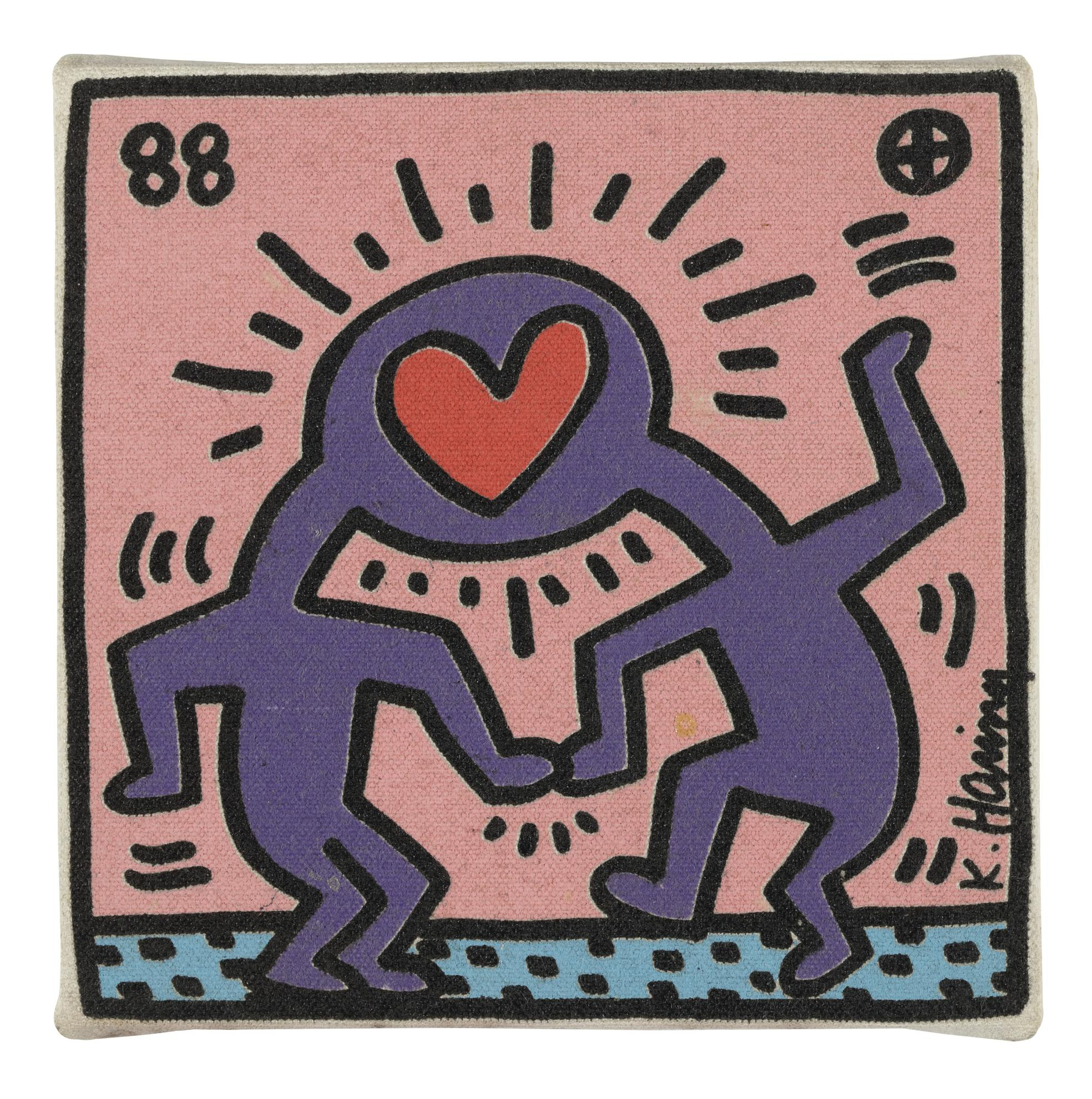 Keith Haring-Untitled (Heart Heads)-1988