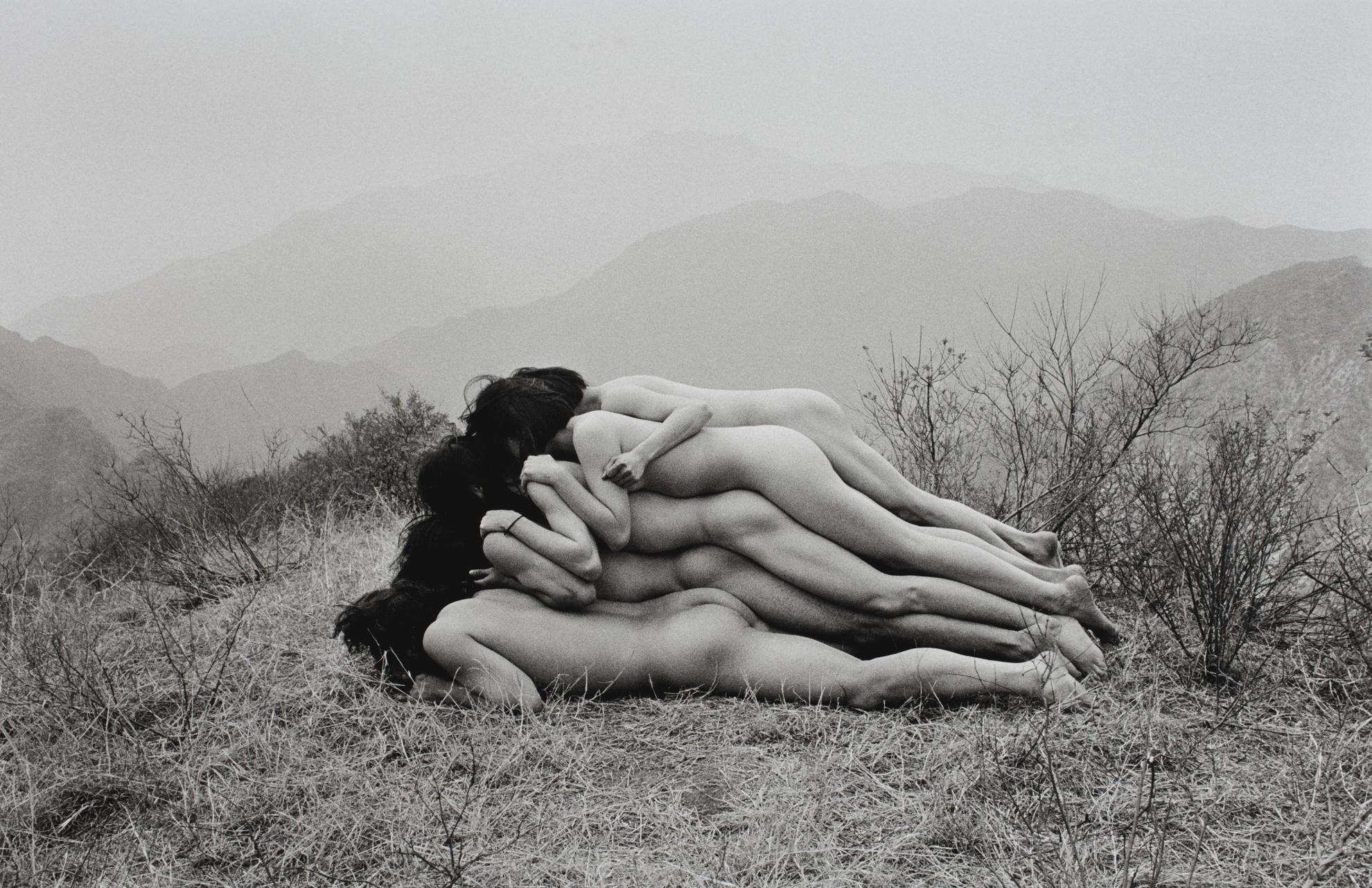 Zhang Huan-To Add One Meter To An Anonymous Mountain-1995