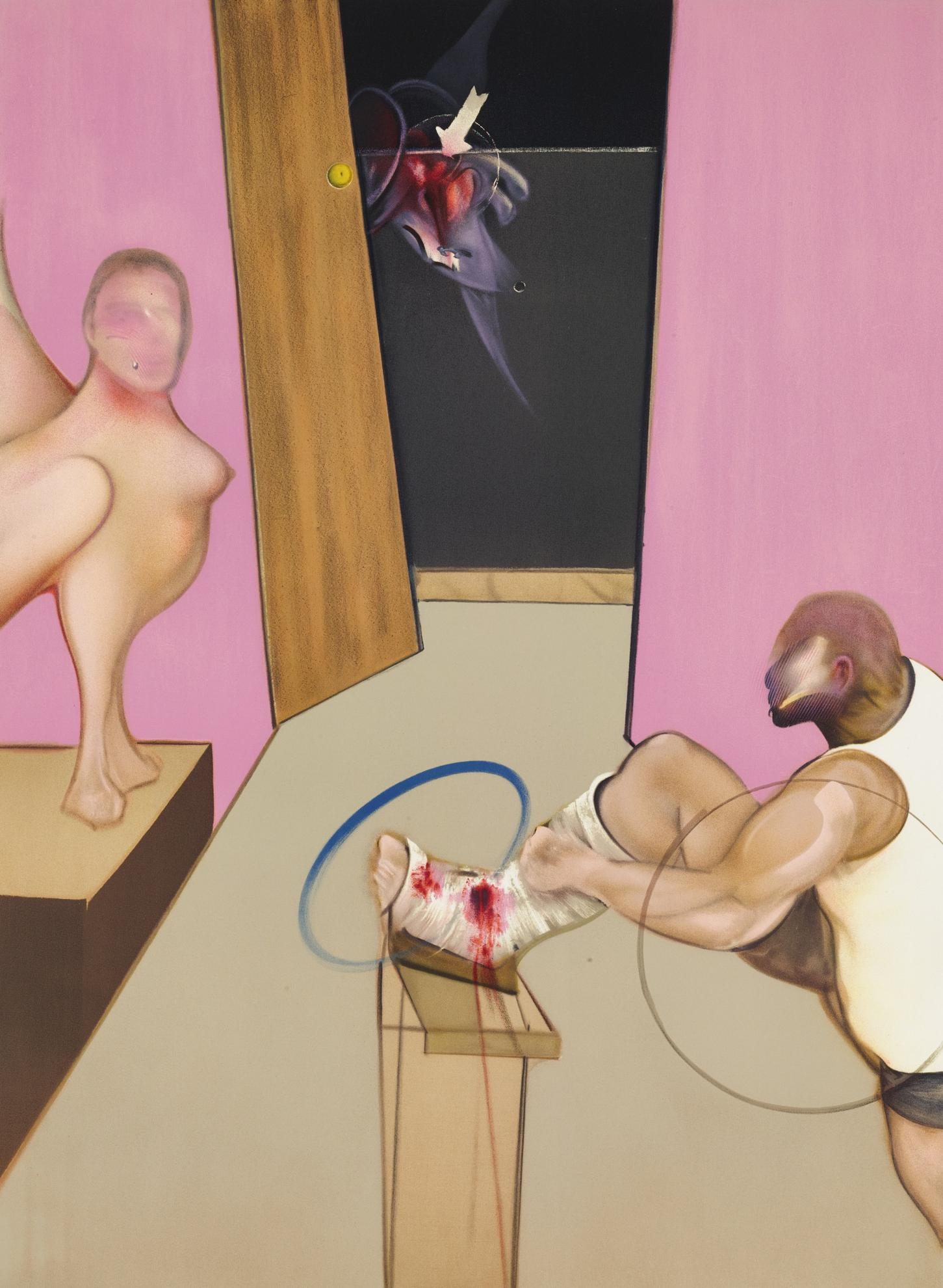 Francis Bacon-Oedipus And The Sphinx After Ingres-1984