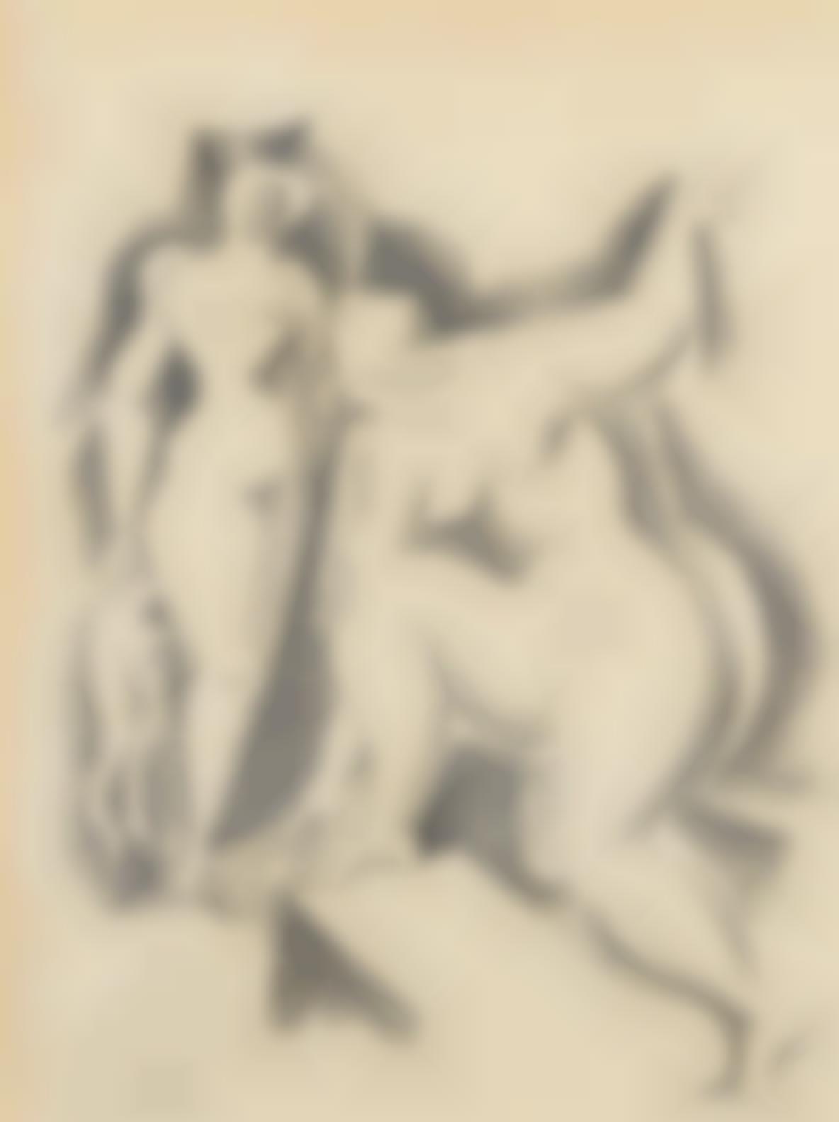 Alexander Archipenko-Zwei Weibliche Akte, From Bauhaus-Drucke Neue Europaische Graphik-1921