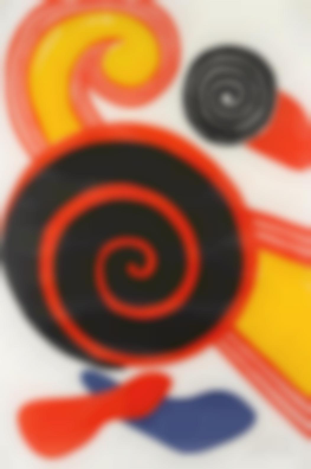 Alexander Calder-Untitled (Sun And Swirls)-1970