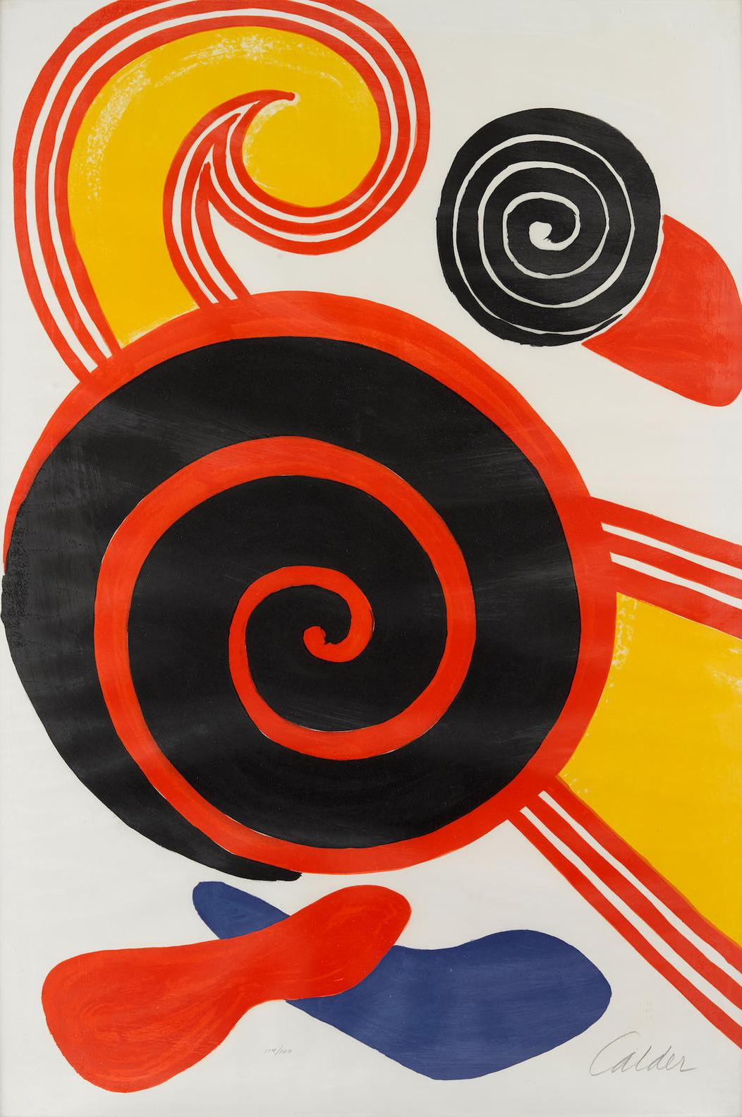 Alexander Calder-Untitled (Sun And Swirls)-1970