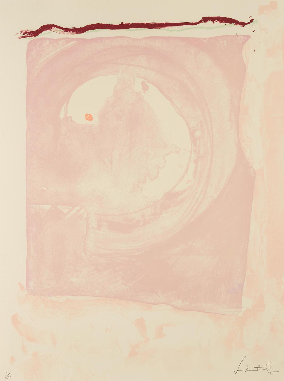 Helen Frankenthaler-Reflections IX, From Reflections Series-1995