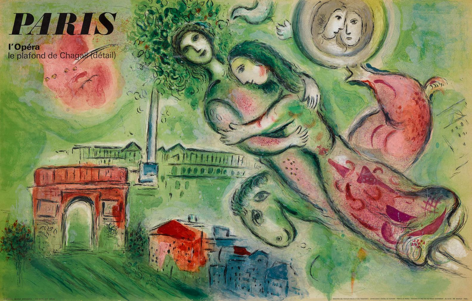 After Marc Chagall - Romeo And Juliet; The Magic Flute-1967