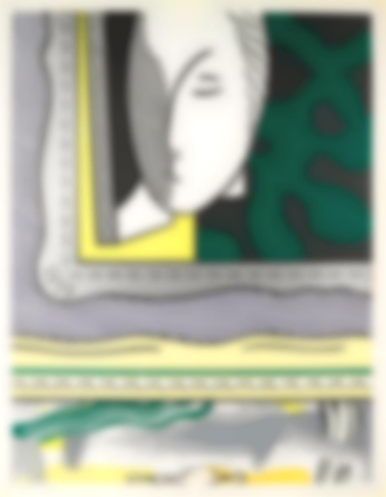 Roy Lichtenstein-Two Paintings: Sleeping Muse, From Paintings-1984
