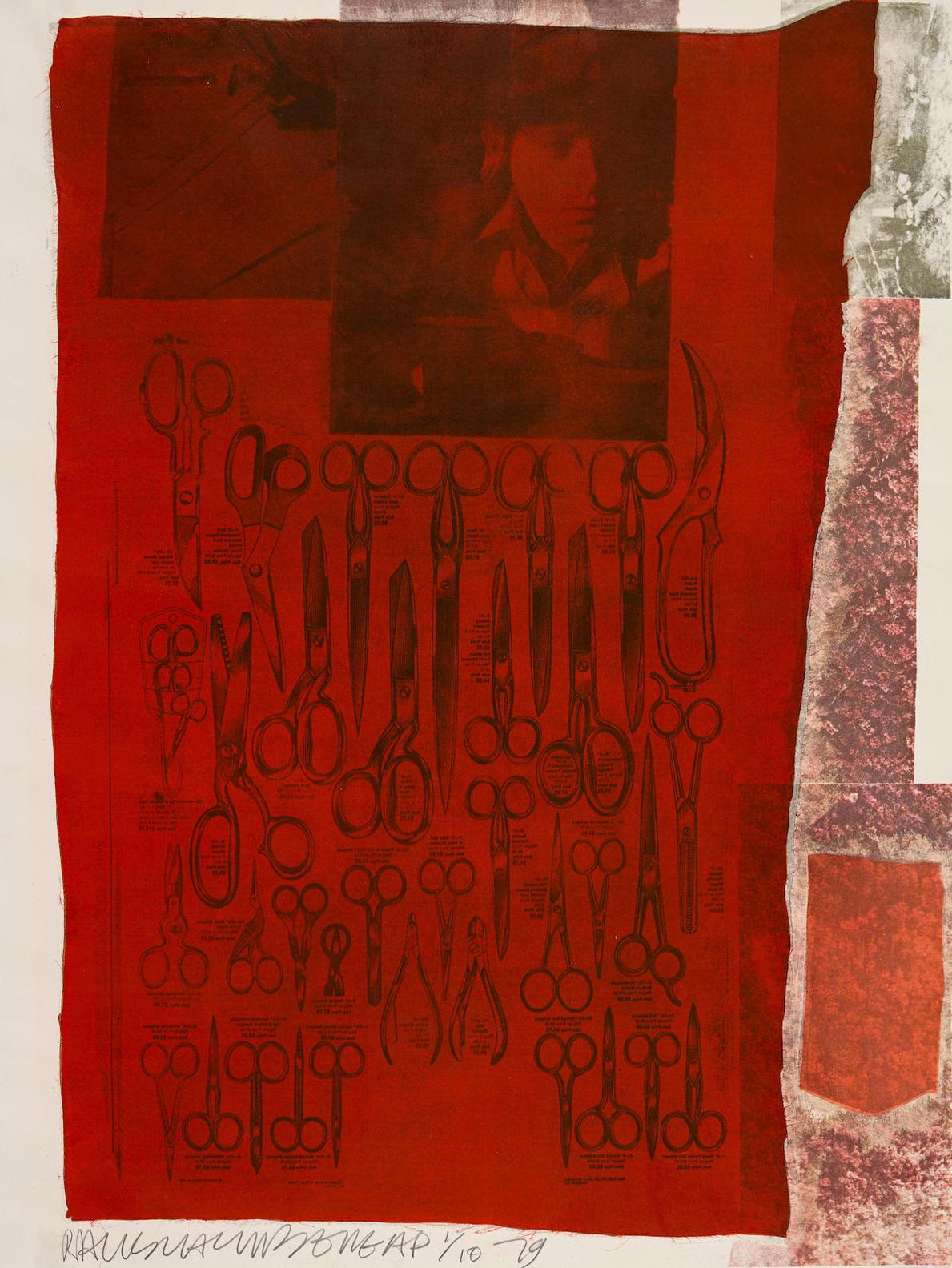 Robert Rauschenberg-More Distant Visible Part Of The Sea, From Suite Of Nine Prints-1979