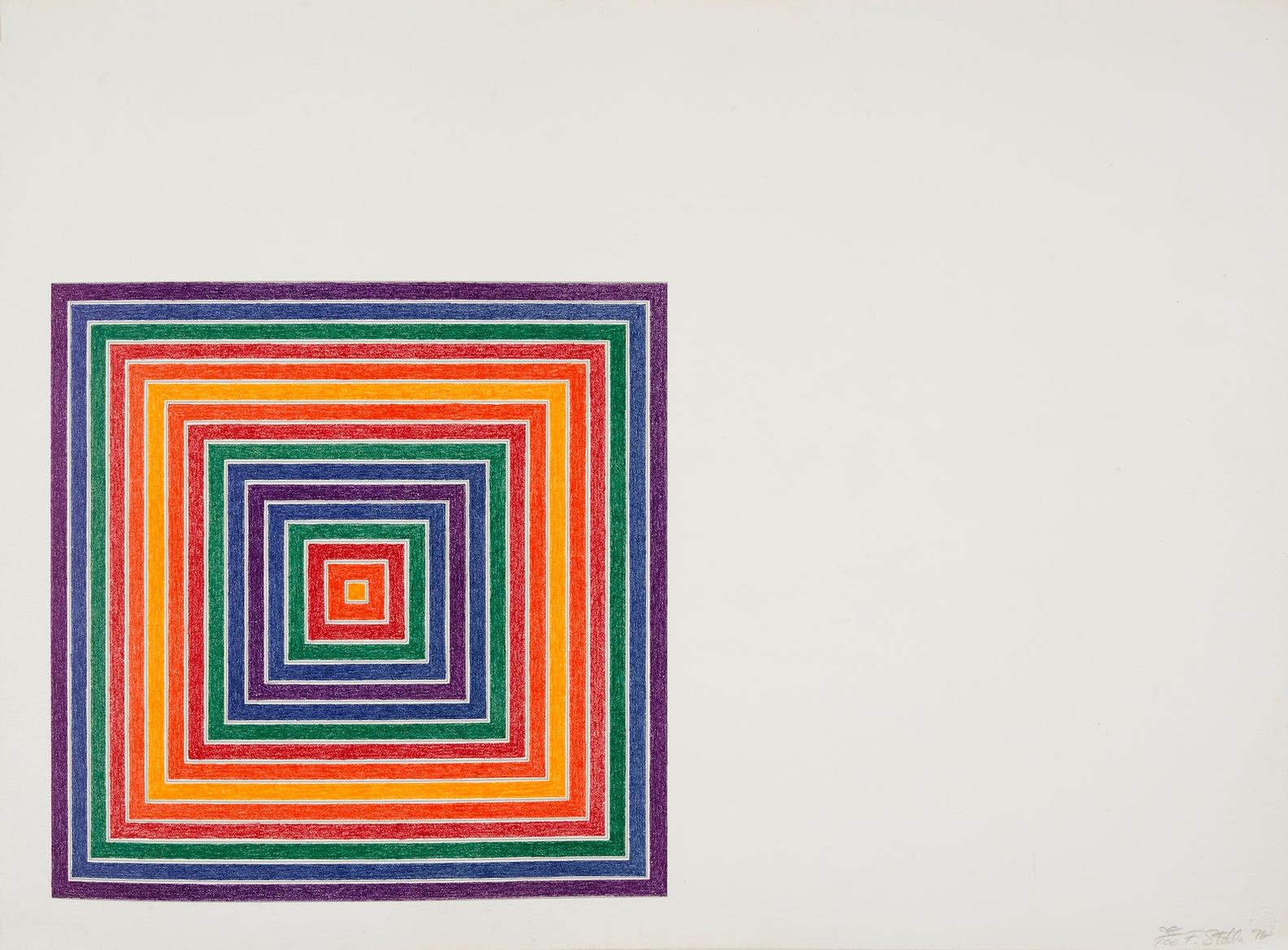 Frank Stella-Honduras Lottery Co., From Multicolored Squares I-1972