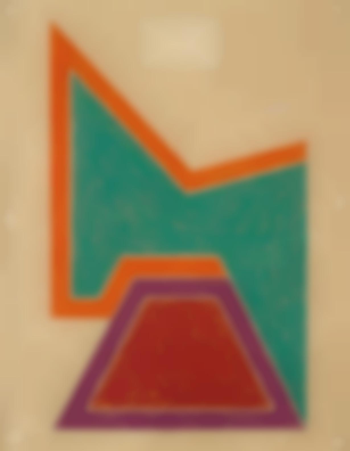 Frank Stella-Wolfeboro, From Eccentric Polygons-1974