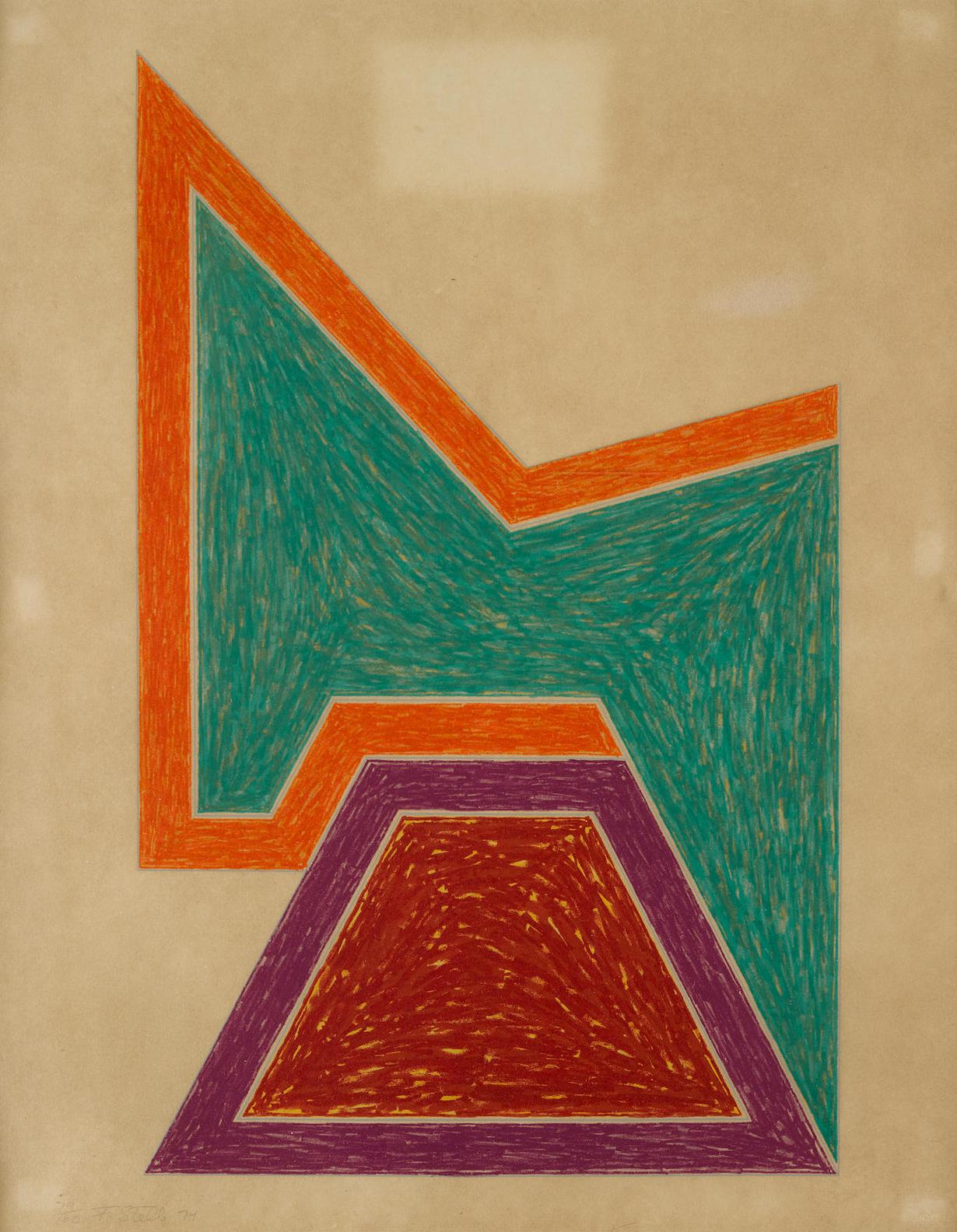 Frank Stella-Wolfeboro, From Eccentric Polygons-1974