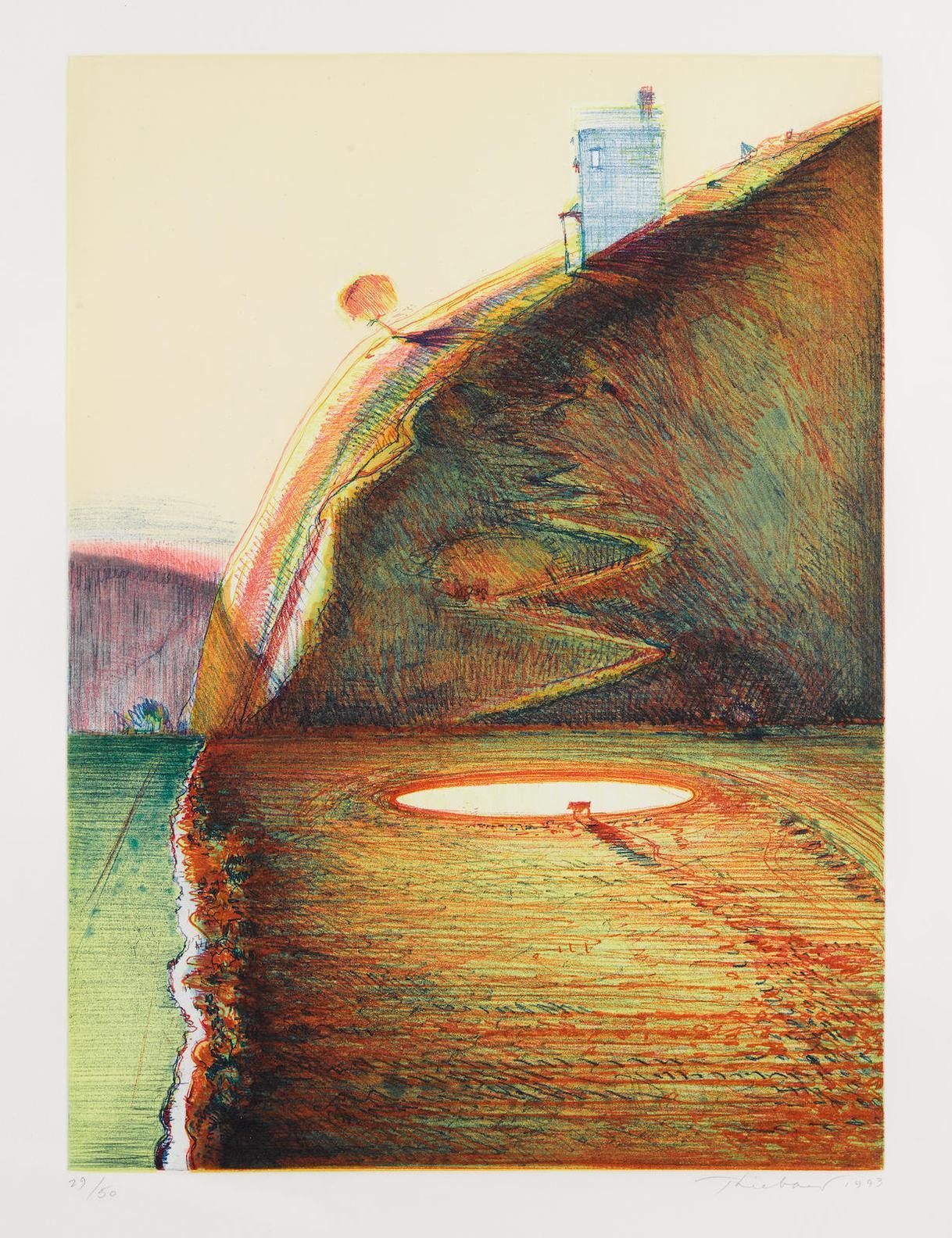 Wayne Thiebaud-Valley Farm-1993