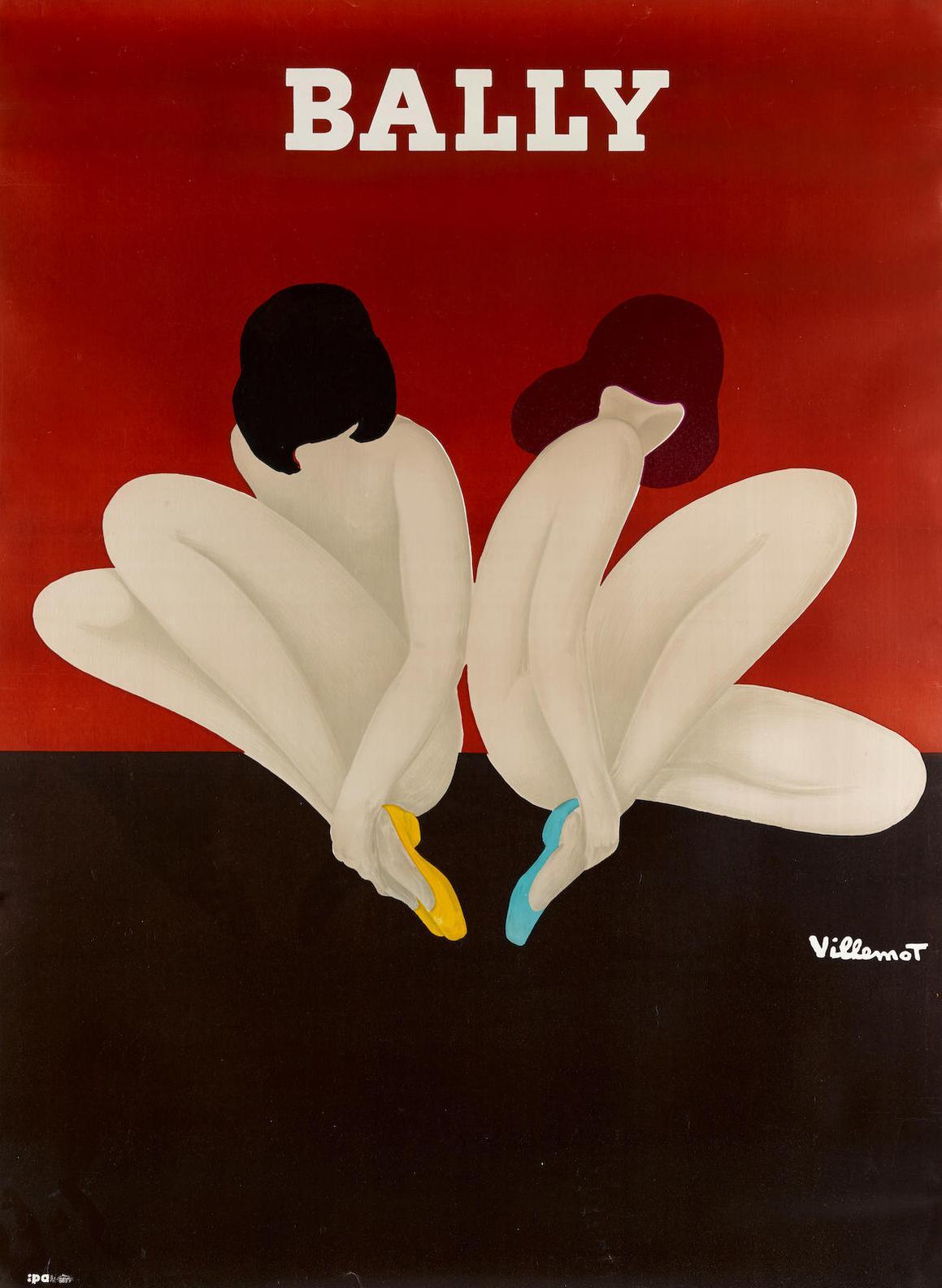 Bernard Villemot - Bally (Lotus); Bally (Woman In Black)-1982