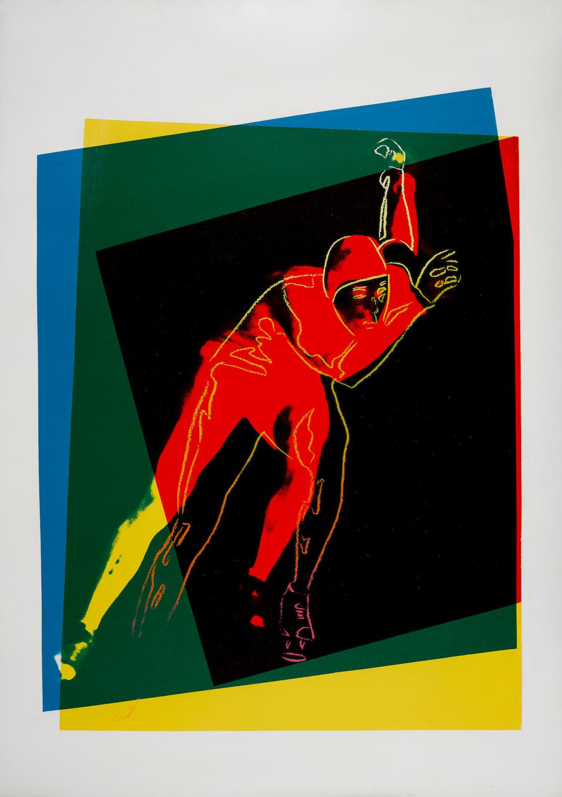 Andy Warhol-Speed Skater, From Art And Sports Portfolio-1983