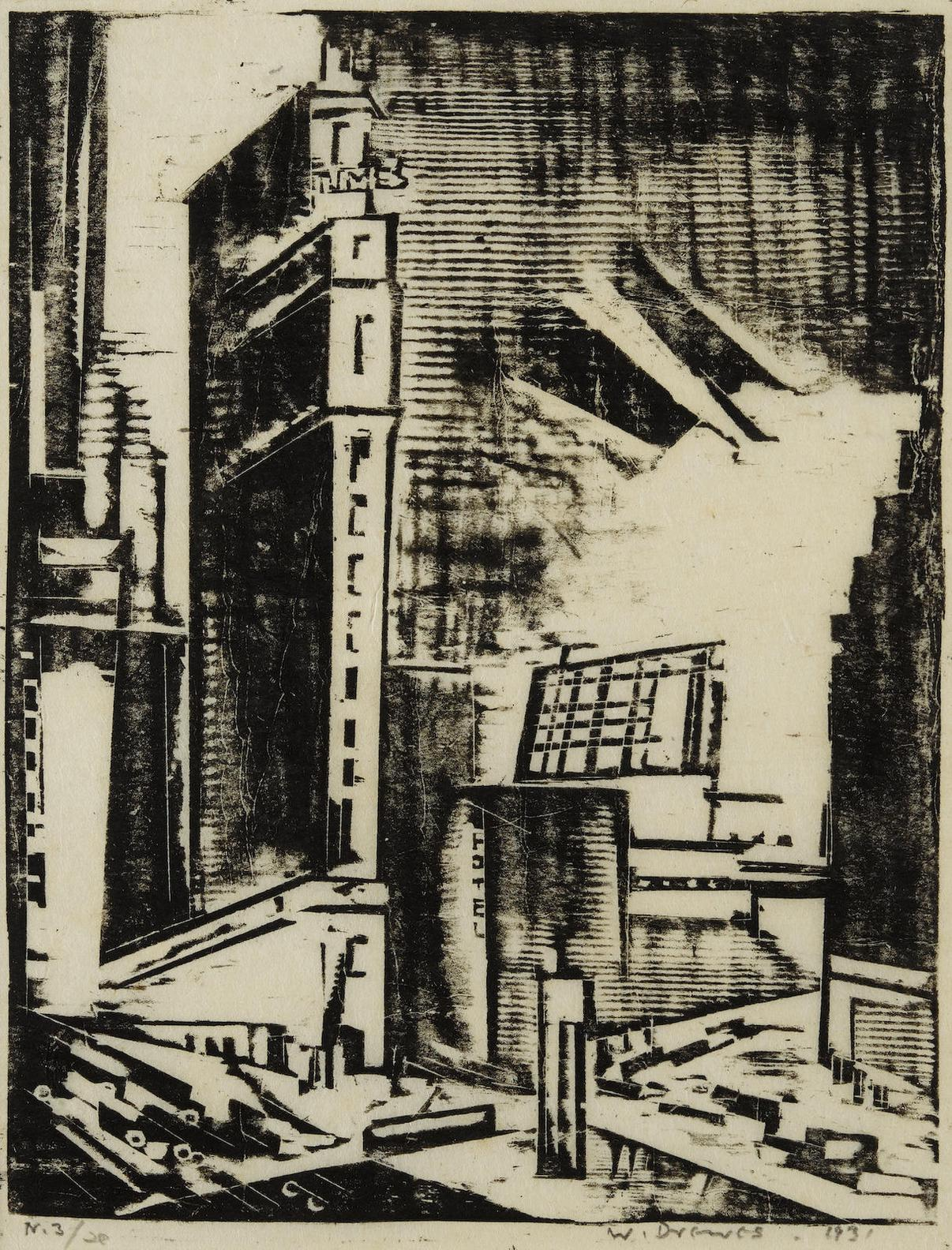 Werner Drewes-Times Square; Empire State Building From Park Avenue; Central Park West-1933