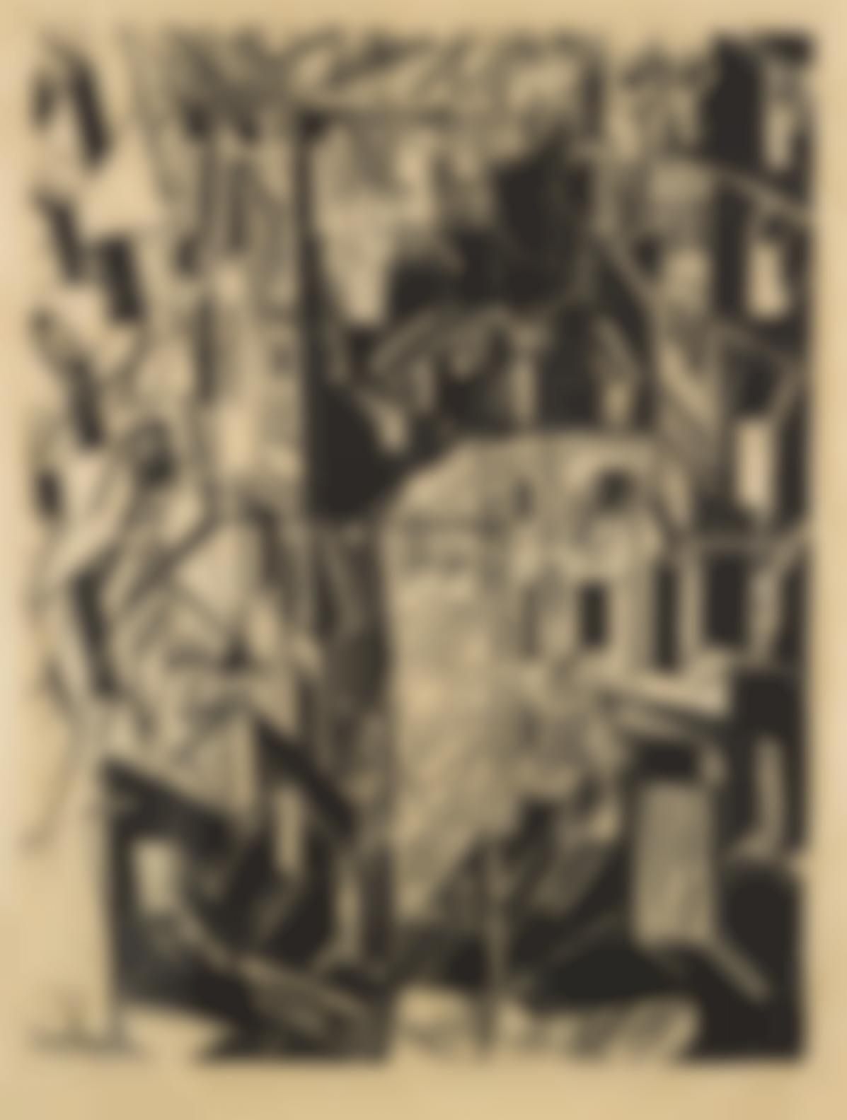 Lyonel Feininger-Strasse In Paris-1918