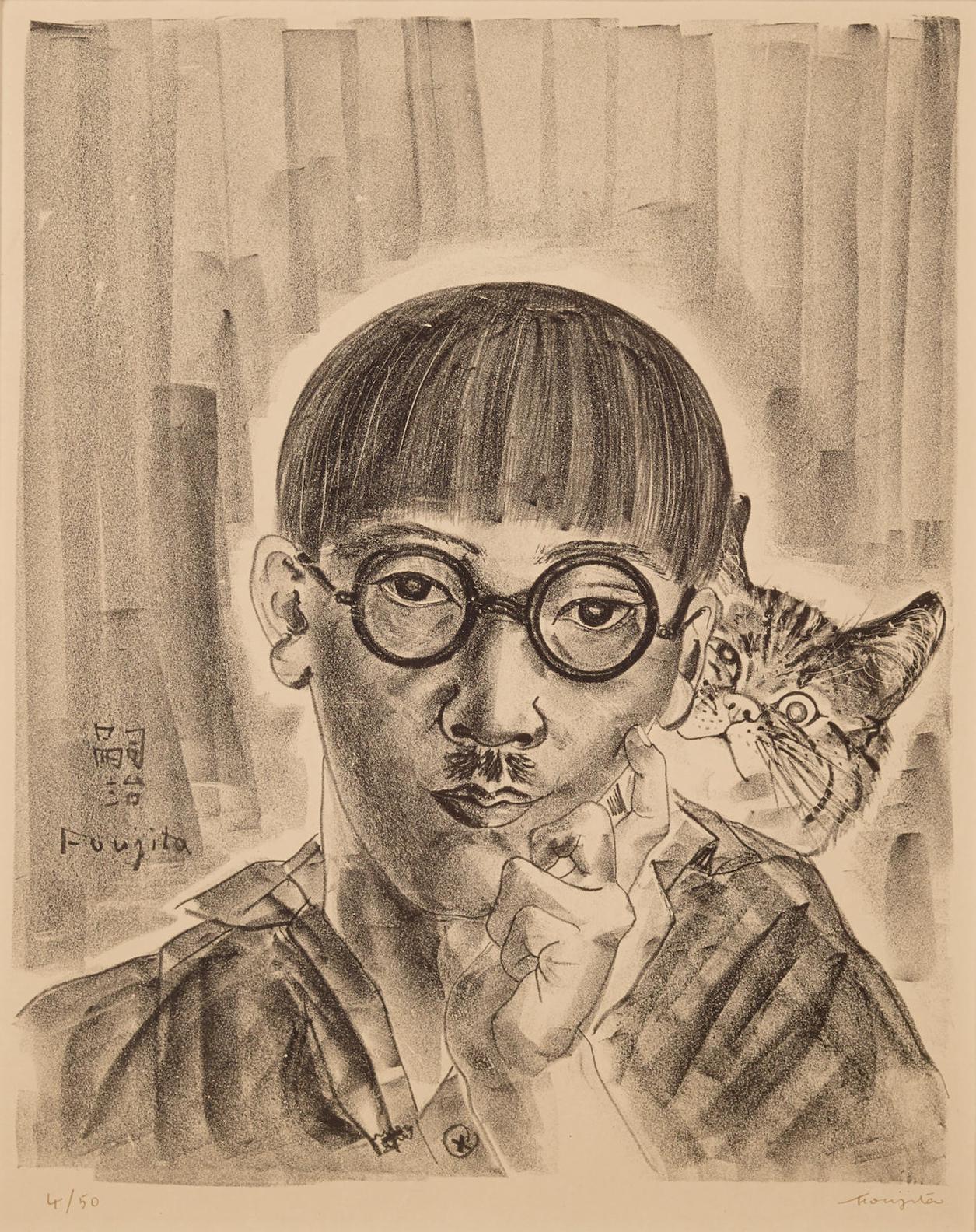 Tsuguharu Foujita-Autoportrait Au Chat-1927