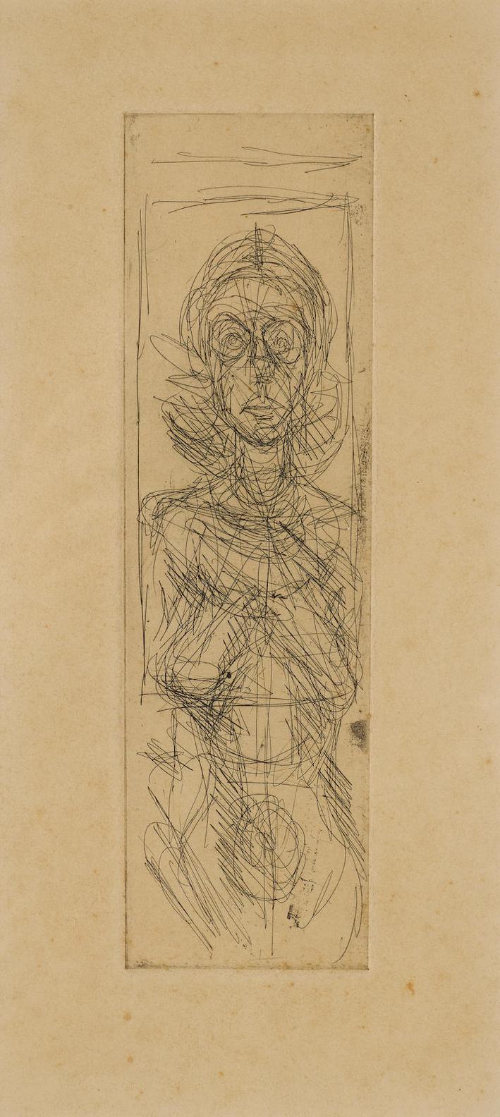 Alberto Giacometti-Annette De Face-1955
