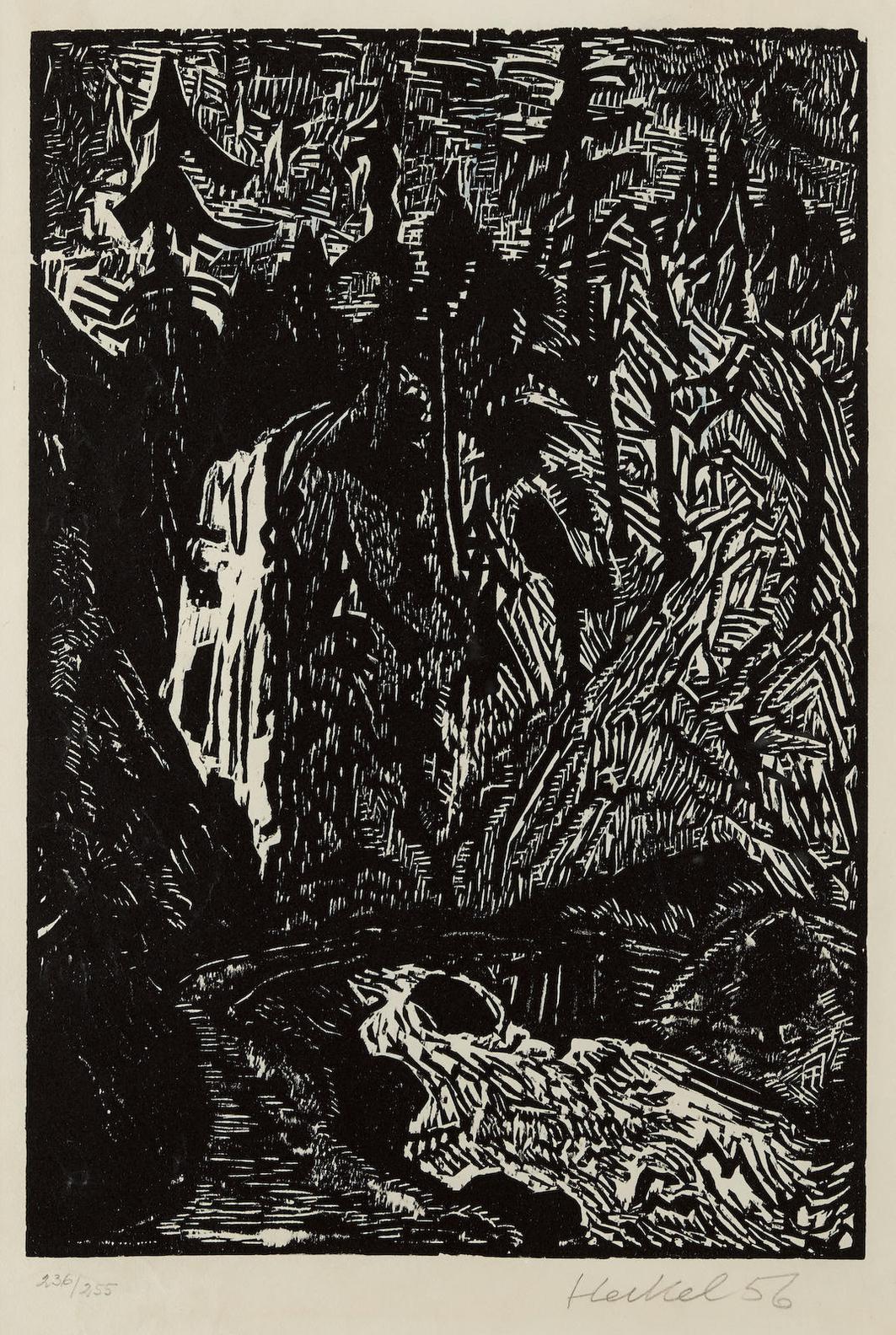 Erich Heckel-Wasserfall-1956
