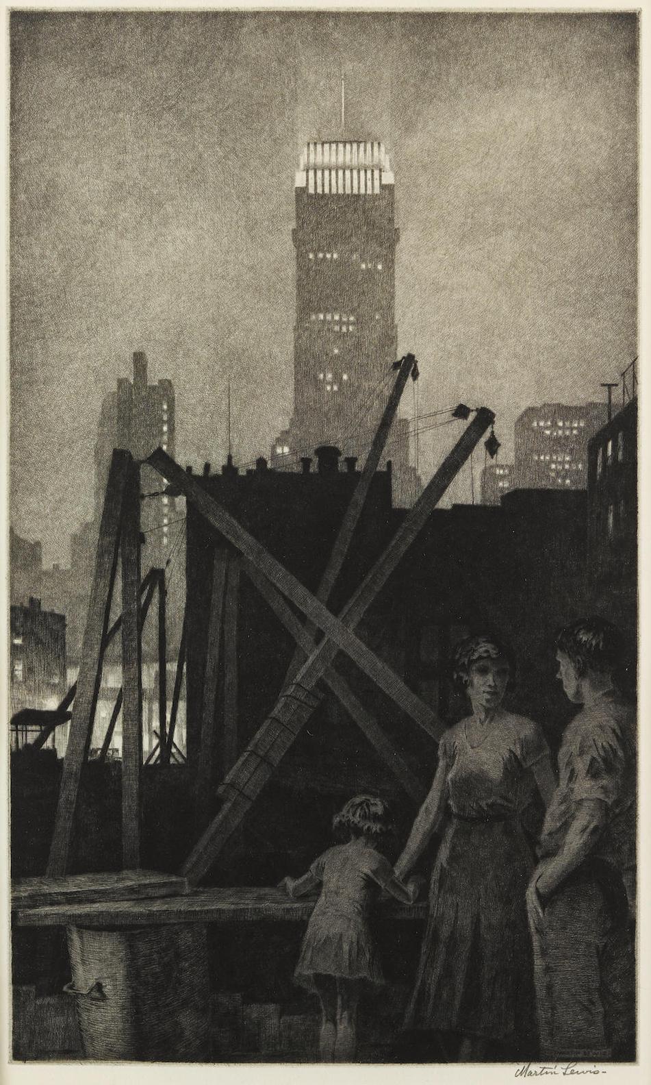 Martin Lewis-Manhattan Lights-1931