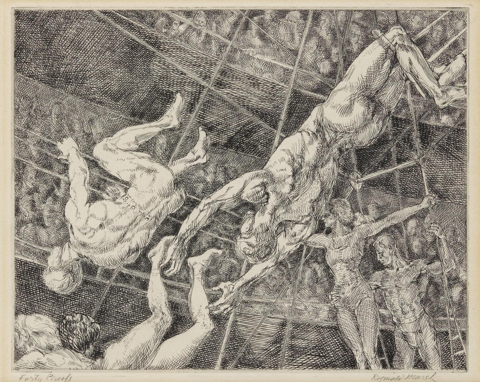 Reginald Marsh-The Flying Concellos-1936