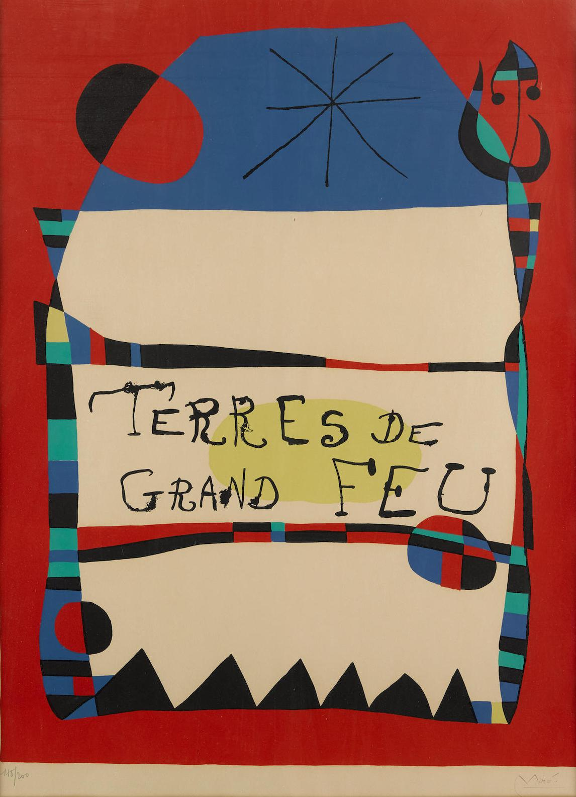 Joan Miro-Exhibition Terres De Grand Feu-1956