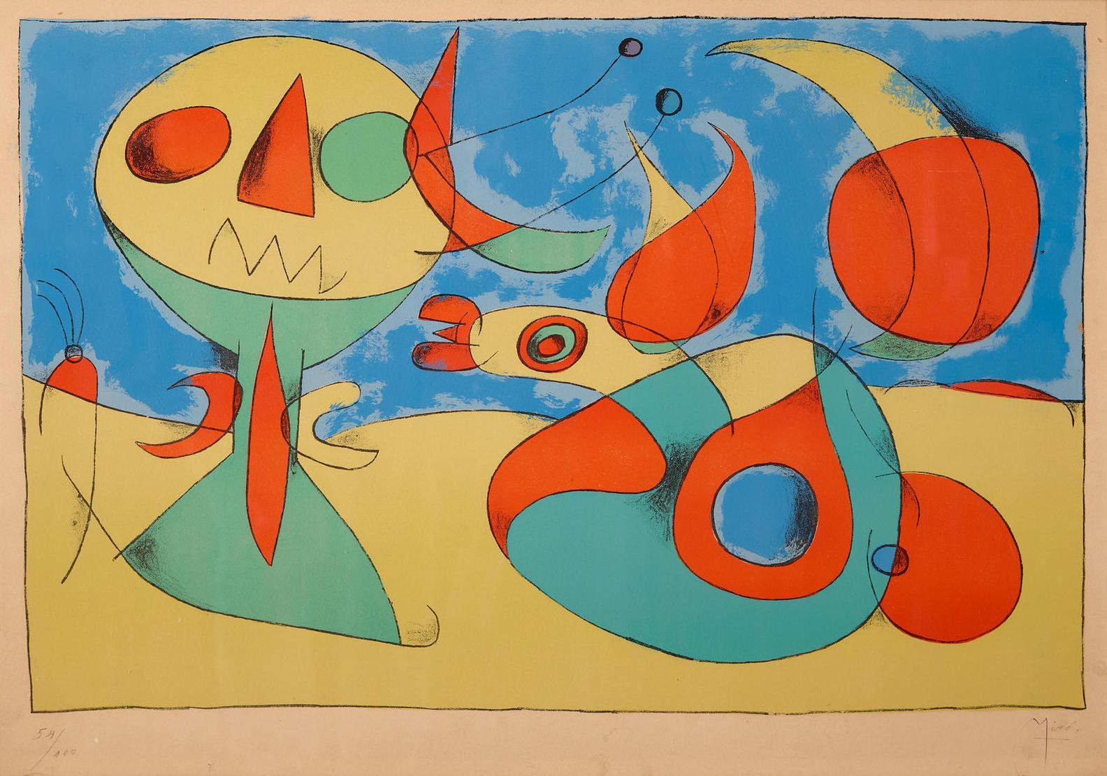 Joan Miro-Oiseau Zephyr-1956