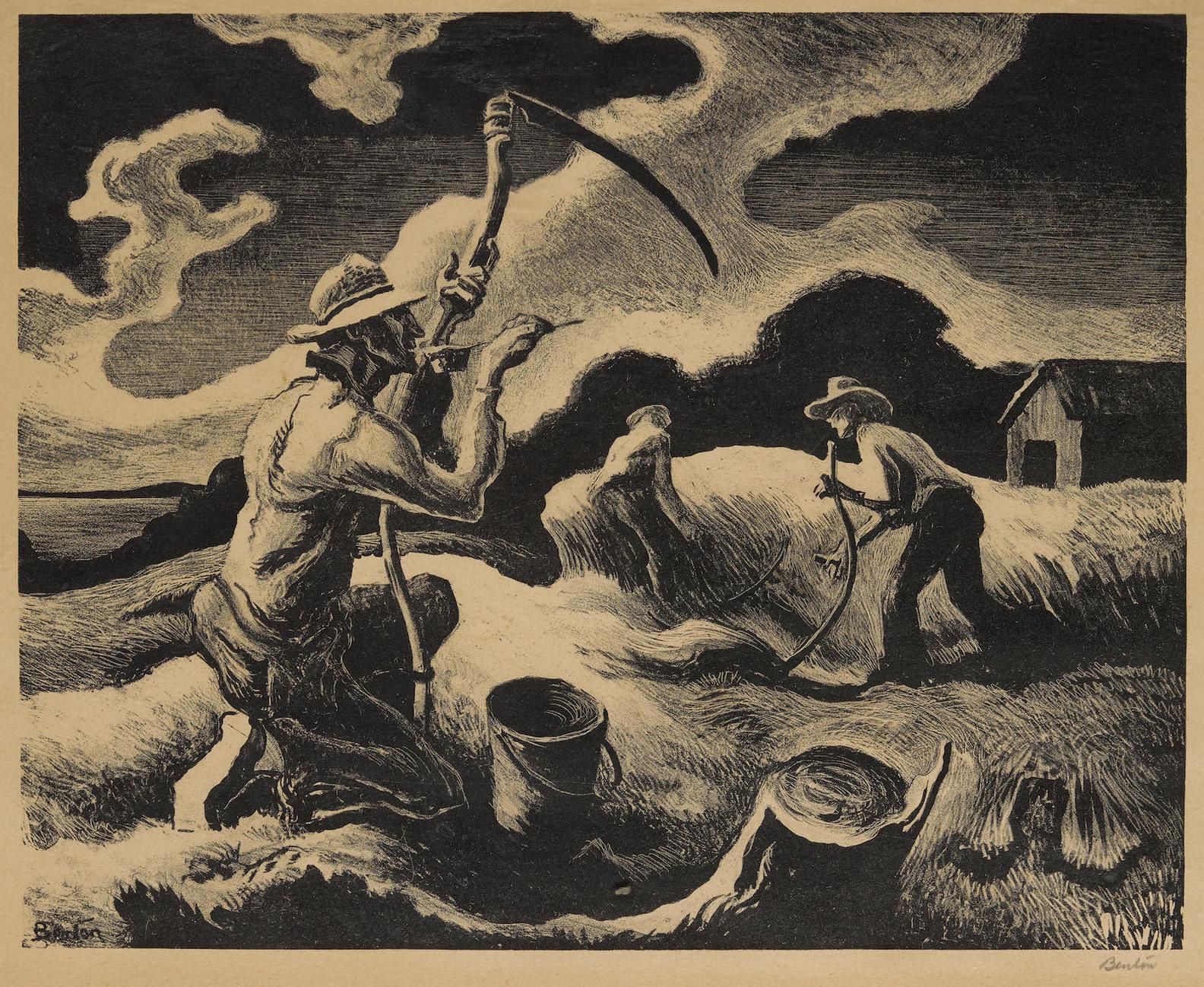 Thomas Hart Benton-Island Hay-1945