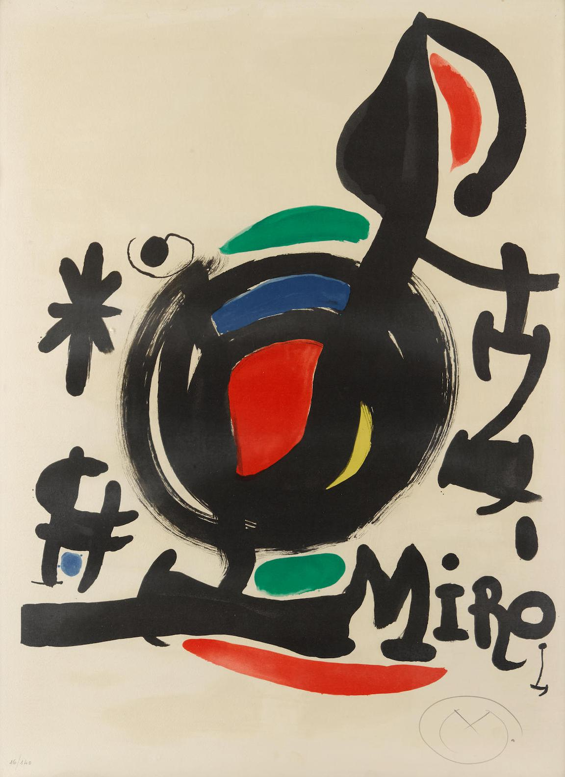 Joan Miro-Affiche Pour Lexposition Les Essencies De La Terra-1969