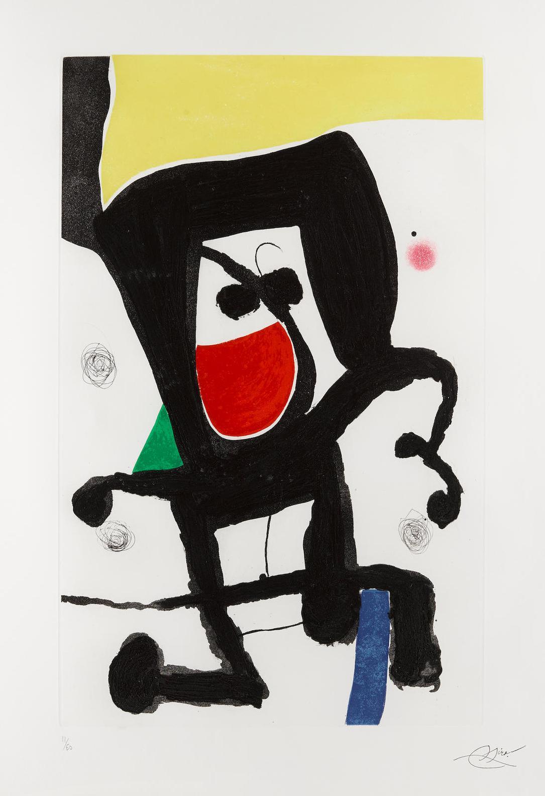 Joan Miro-Mousse Dans Les Cordages-1981