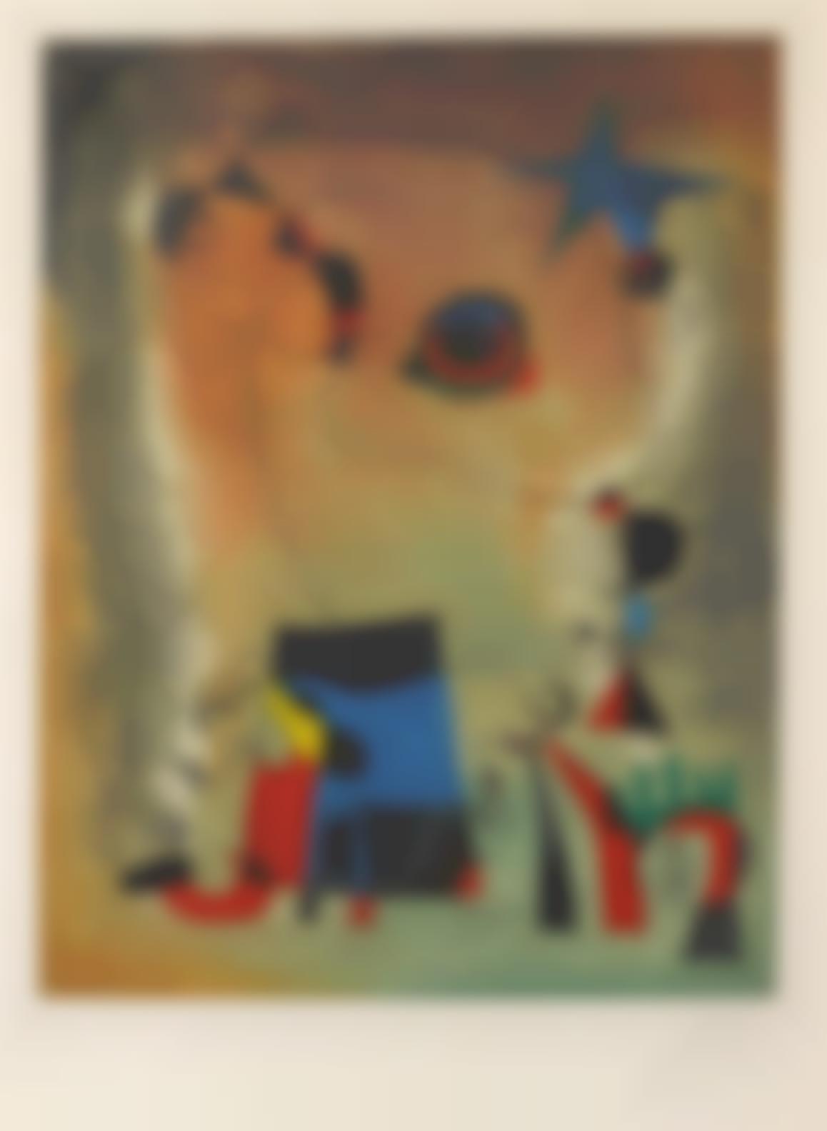 After Joan Miro - Le Chien Bleu-1959