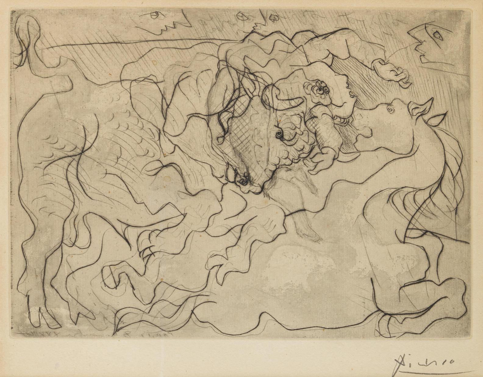 Pablo Picasso-Morte Au Soleil Iv, Pl.13, From La Suite Vollard-1933