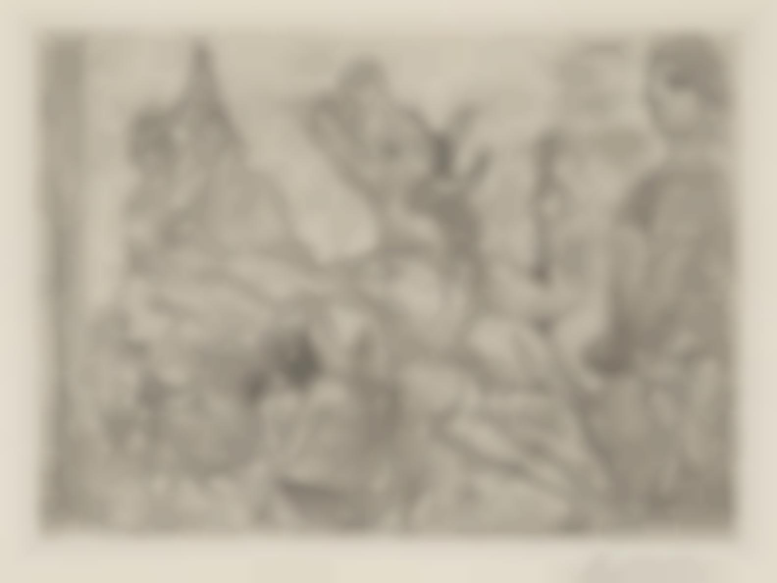 Pablo Picasso-Minotaure Aveugle Guide Par Une Fillette III, Pl. 95 From La Suite Vollard-1934