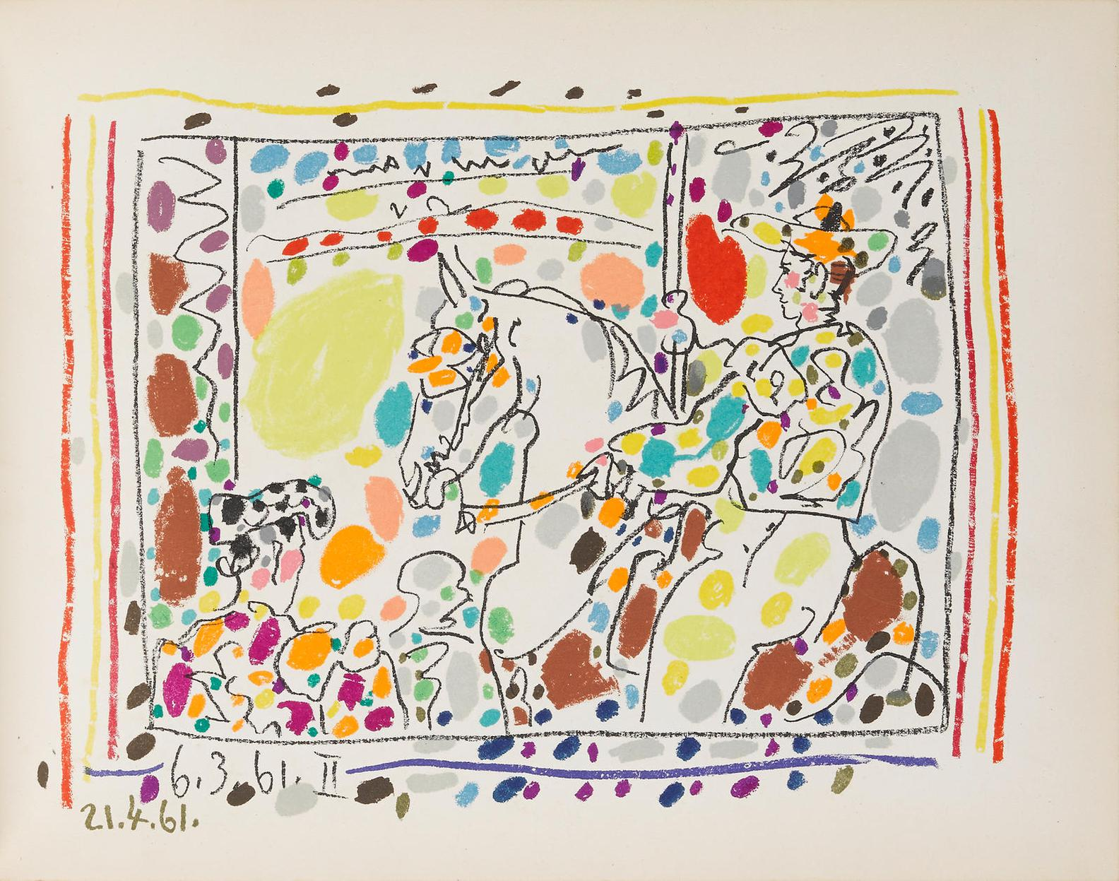 Pablo Picasso-A Los Toros Avec Picasso By Jaime Sabartes-1961