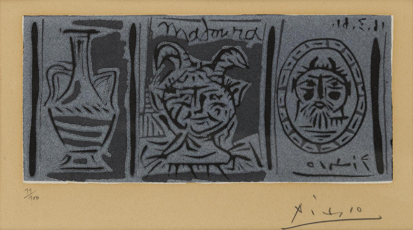 Pablo Picasso-Madoura-1961