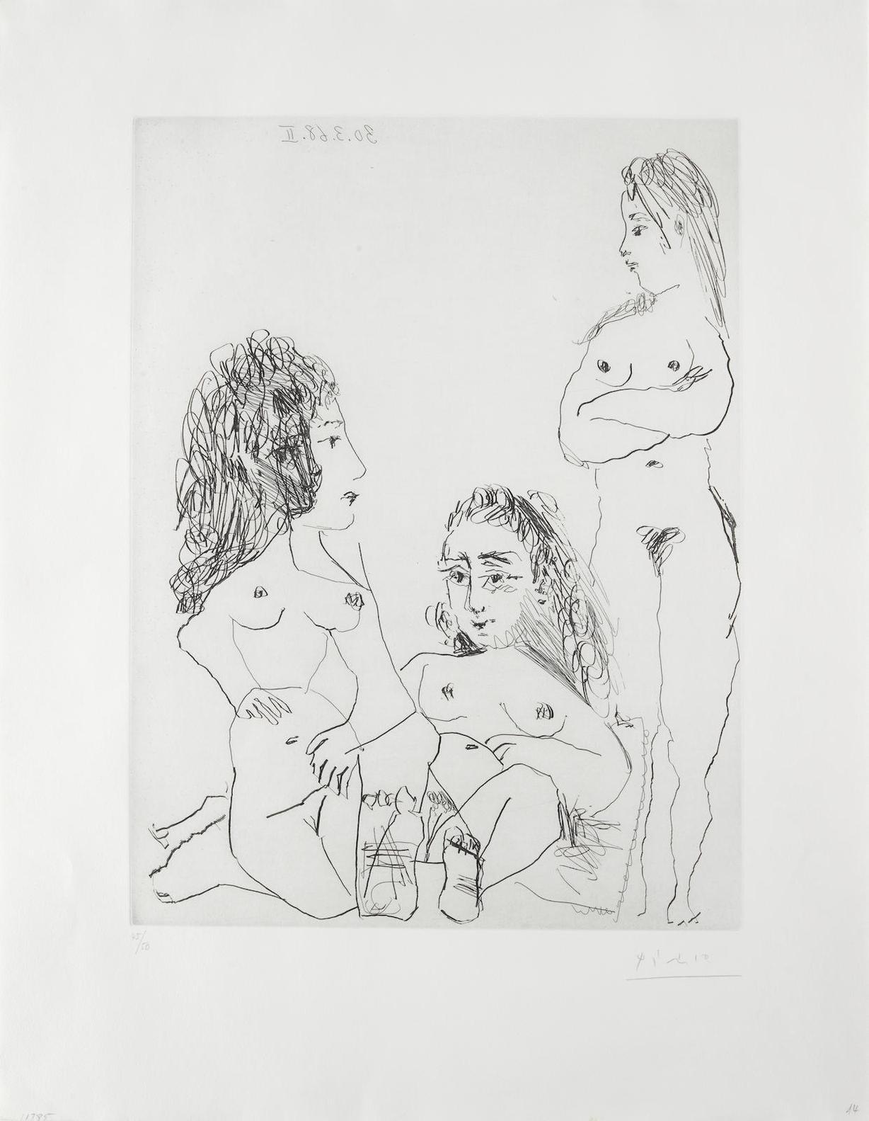 Pablo Picasso-Trois Femmes, Pl. 14, From La Series 347-1968