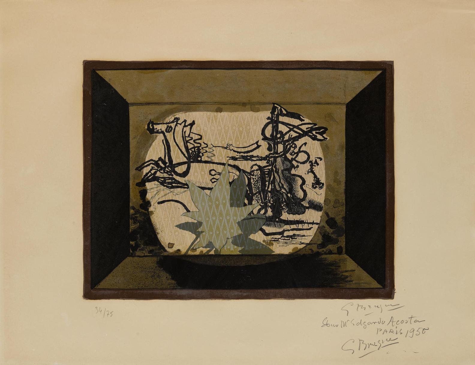 Georges Braque-Le Char III (Char Verni)-1955