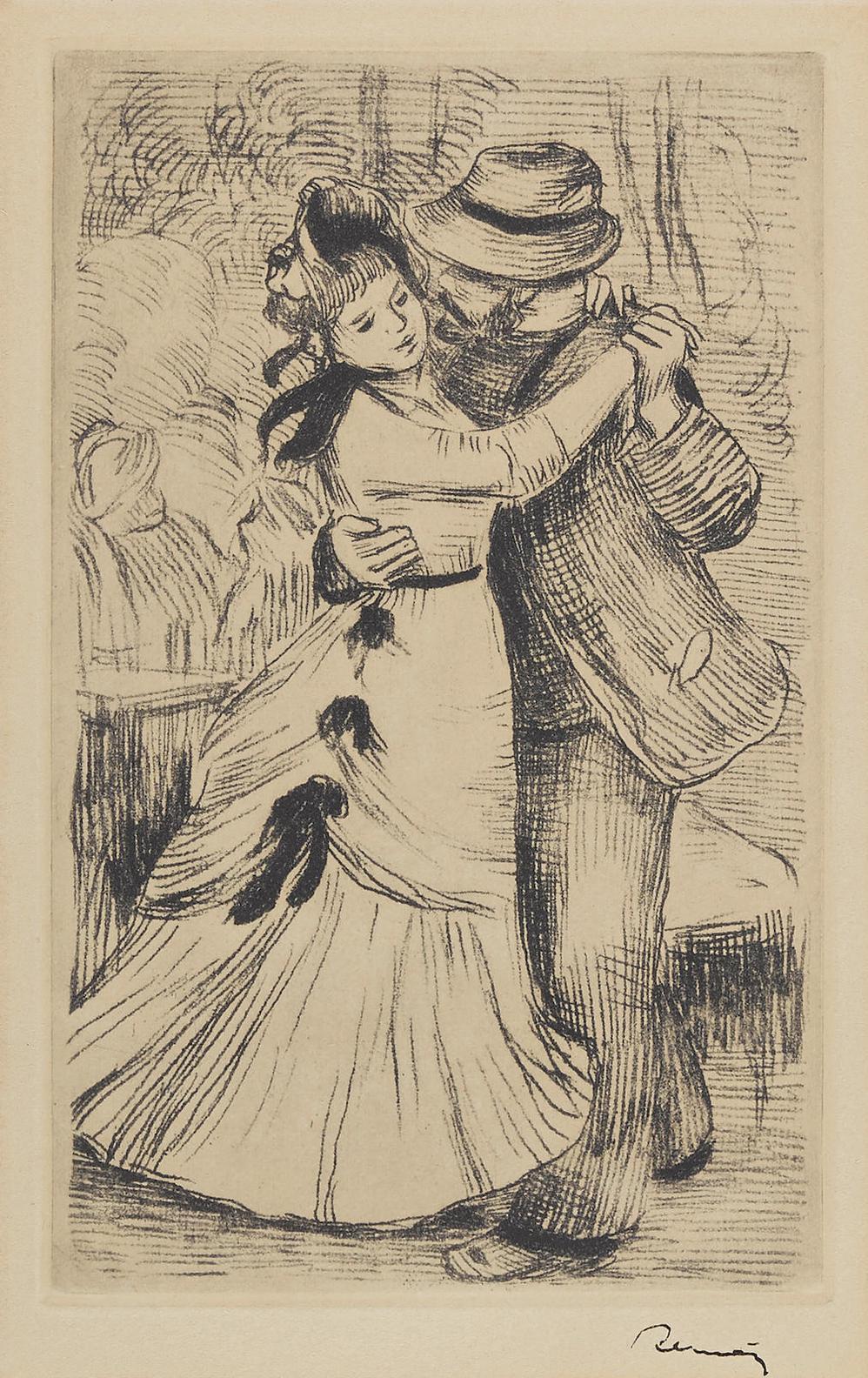 Pierre-Auguste Renoir-La Danse A La Campagne, 2E Planche-1890