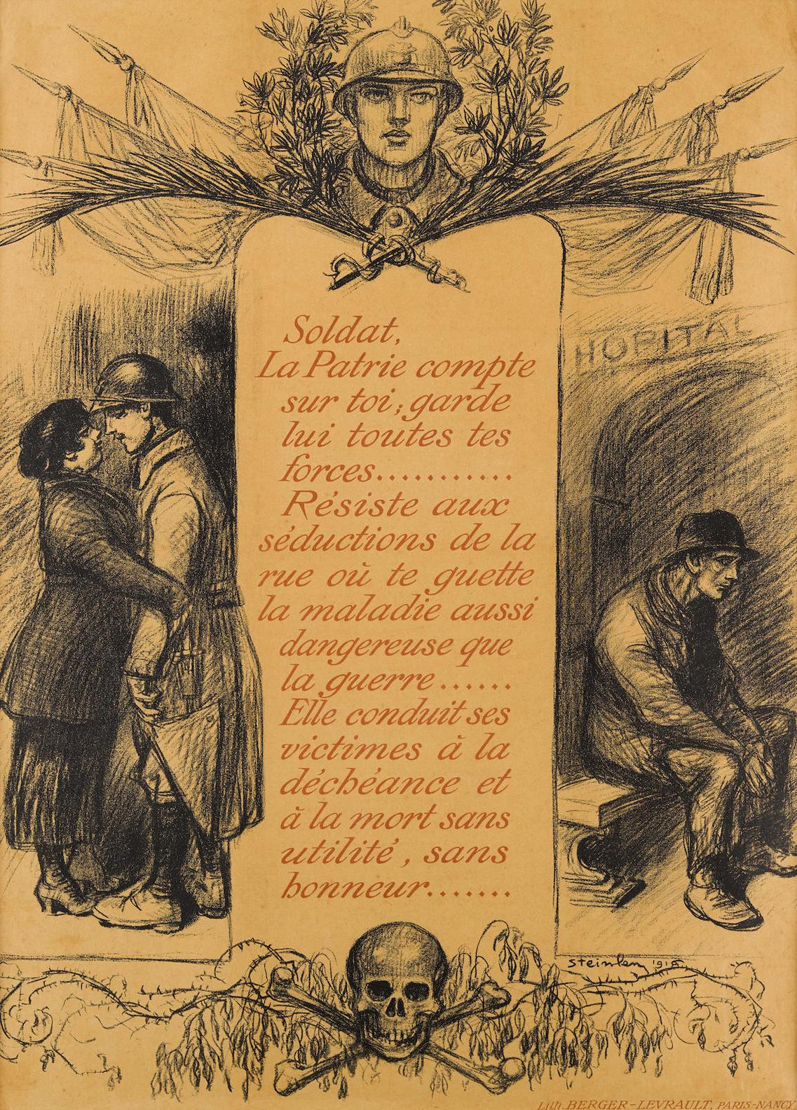 Theophile Alexandre Steinlen-Soldat, La Patrie Compte Sur Toi...-1916