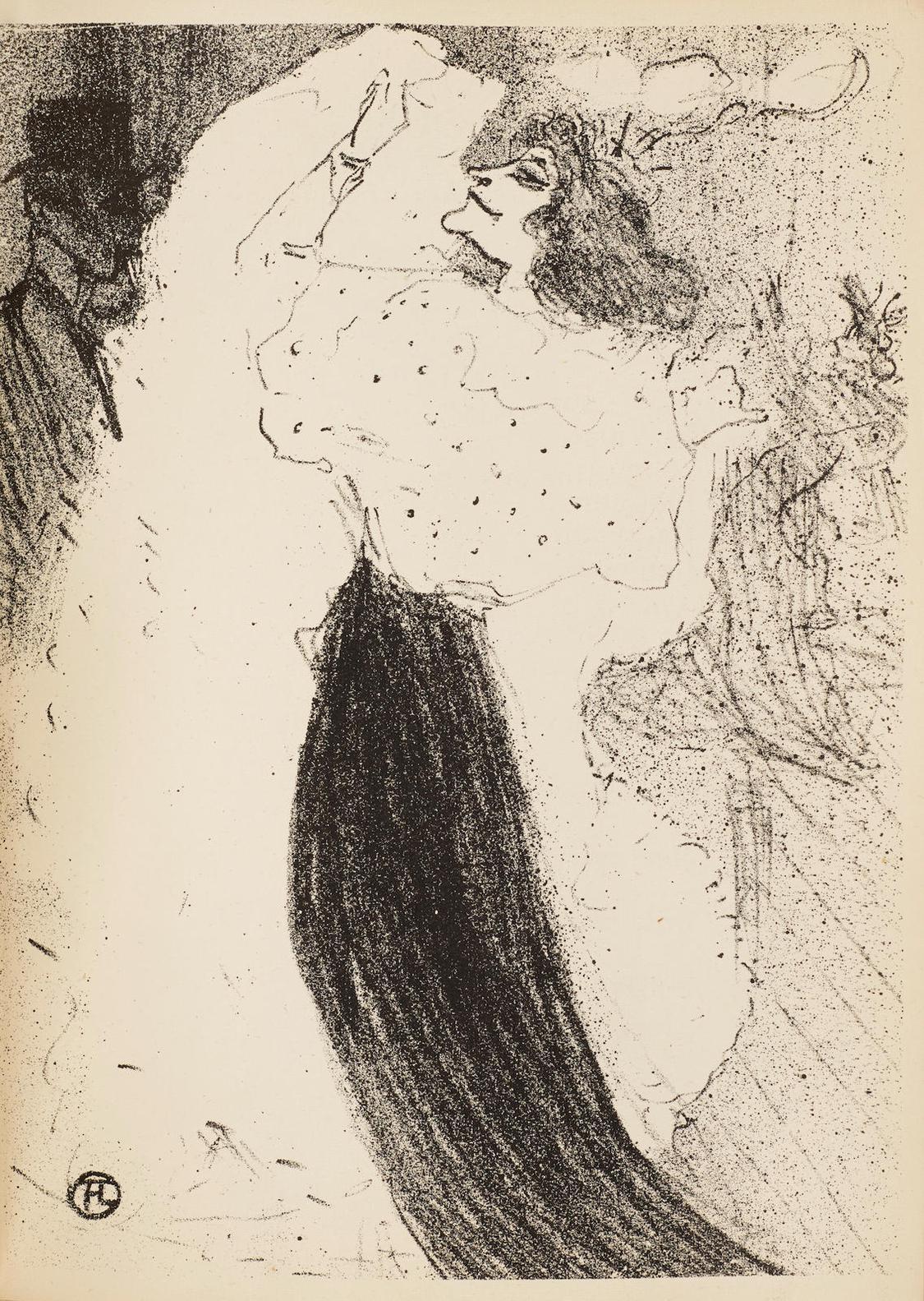 Henri de Toulouse-Lautrec-Danse Excentrique, With 16 Lithographs By Various Artists In The Exhibition Catalogue 'La Depeche De Toulouse'-1894