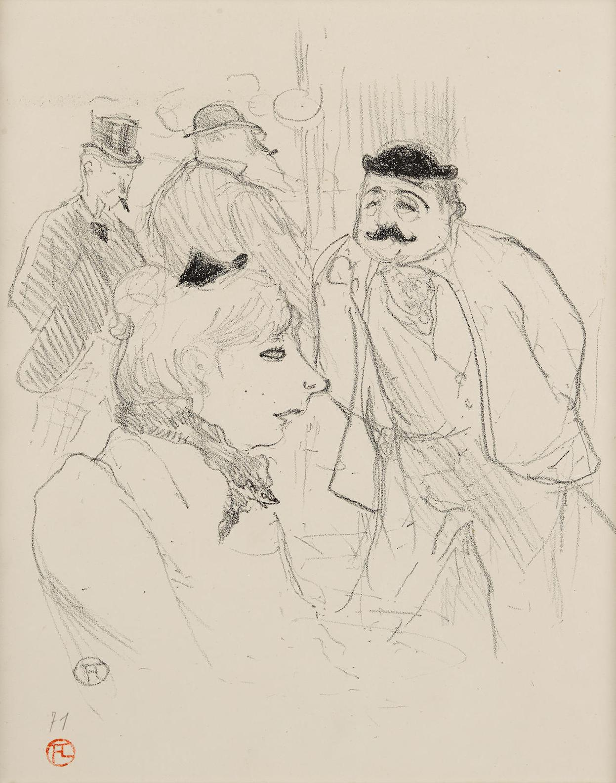 Henri de Toulouse-Lautrec-La Tige- Moulin Rouge-1894