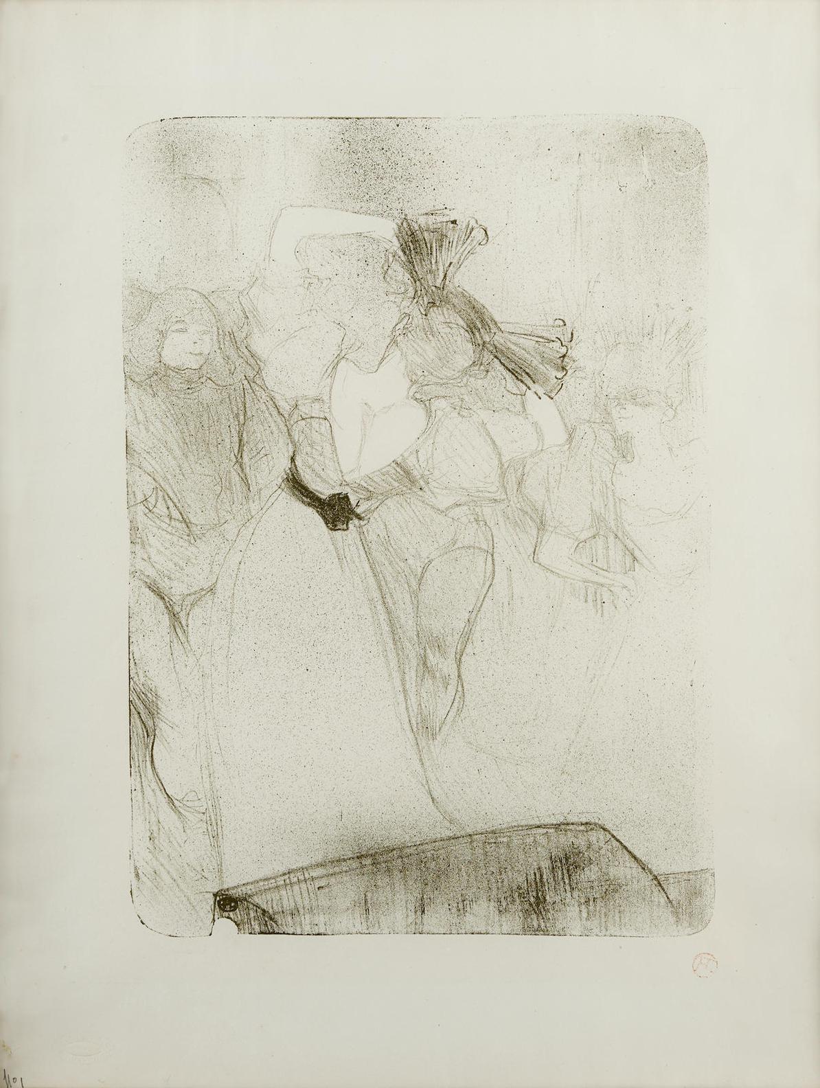 Henri de Toulouse-Lautrec-Lender De Dos, Dansant Le Bolero, Dans Chilperic-1895