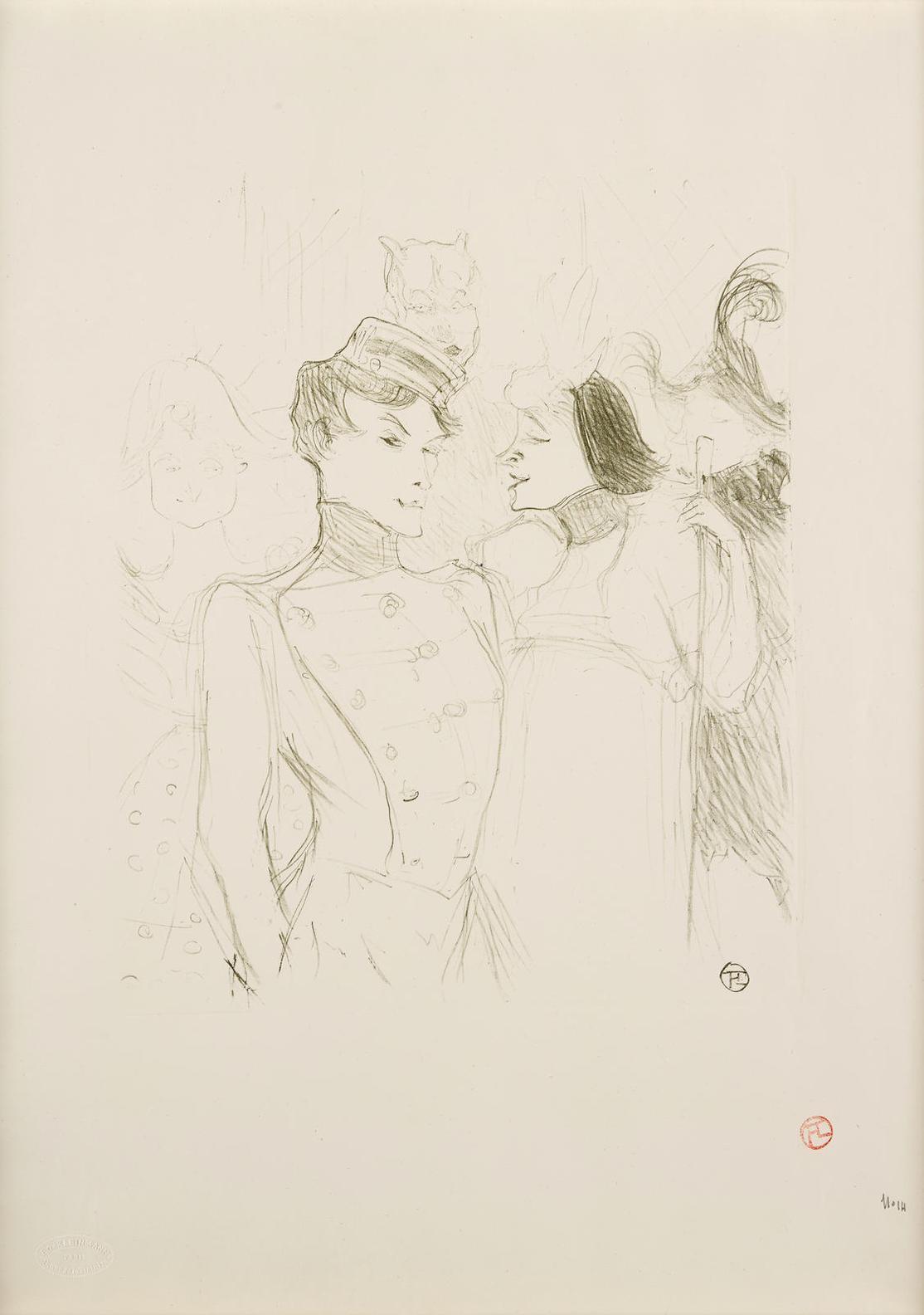 Henri de Toulouse-Lautrec-Lender Et Lavalliere, Dans Une Revue Aux Varietes-1895