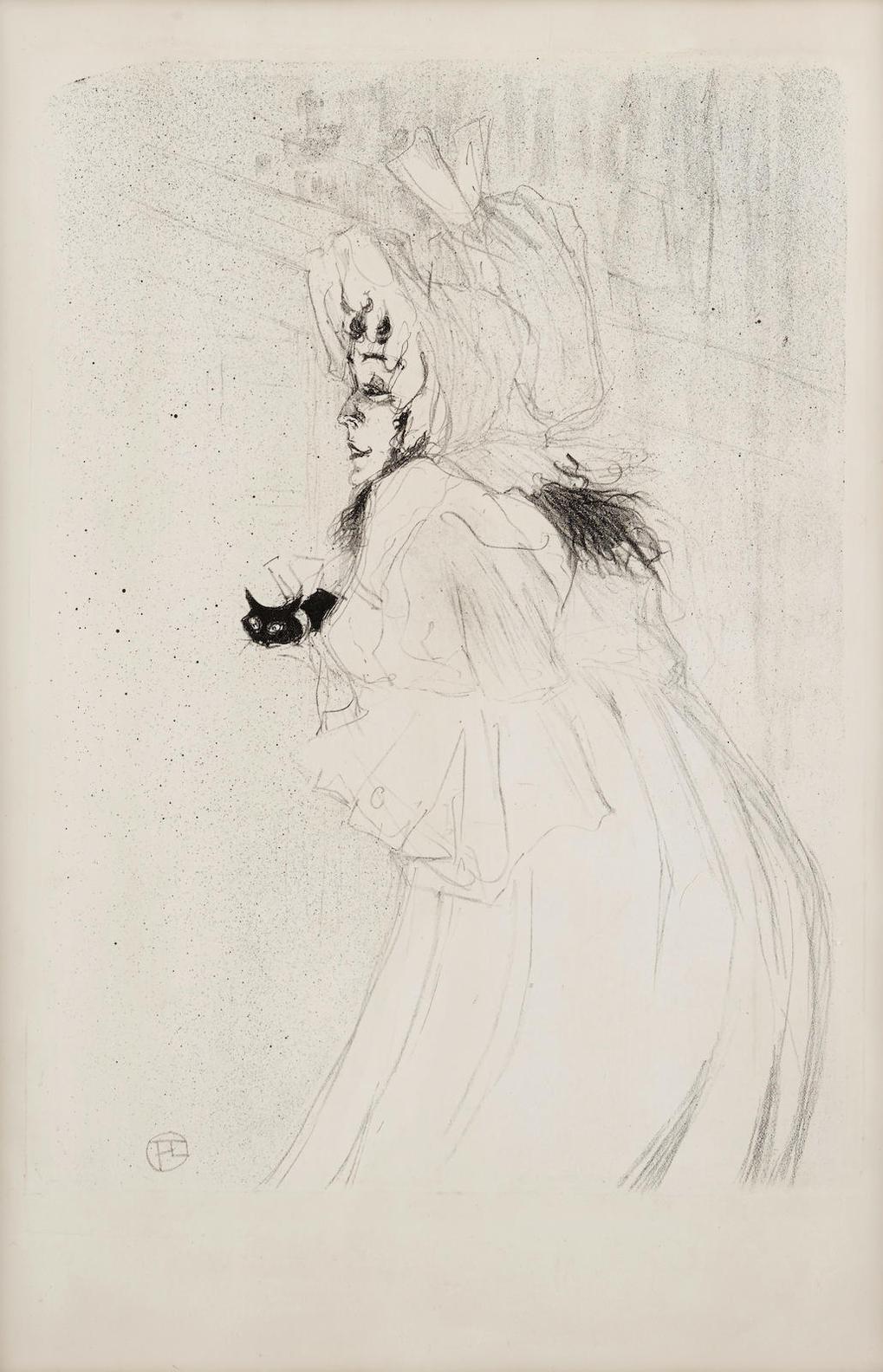 Henri de Toulouse-Lautrec-Miss May Belfort Salutant-1895