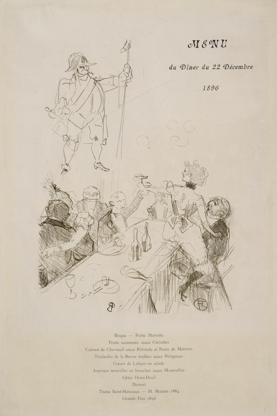 Henri de Toulouse-Lautrec-Le Suisse, Menu-1896
