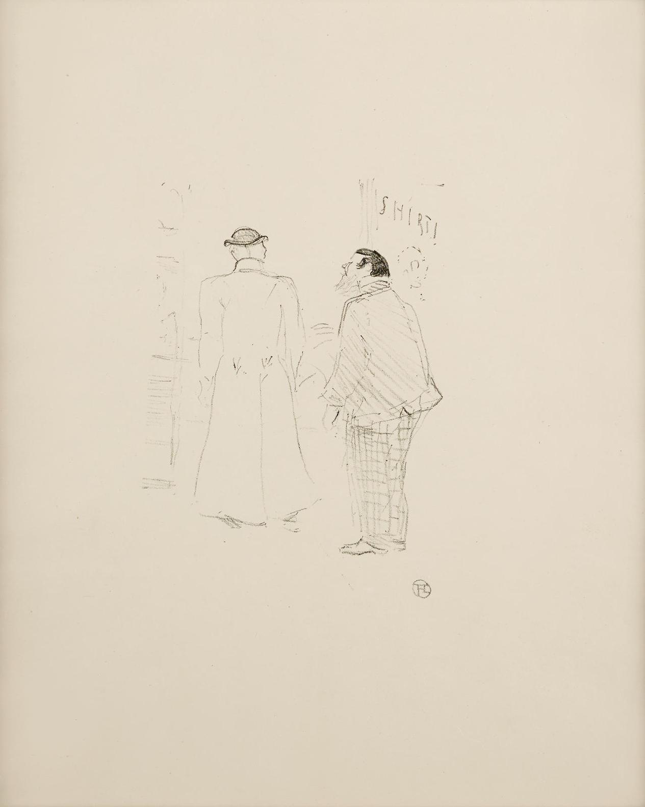 Henri de Toulouse-Lautrec-Le Premier Vendeur De Jourdan Et Brown-1898