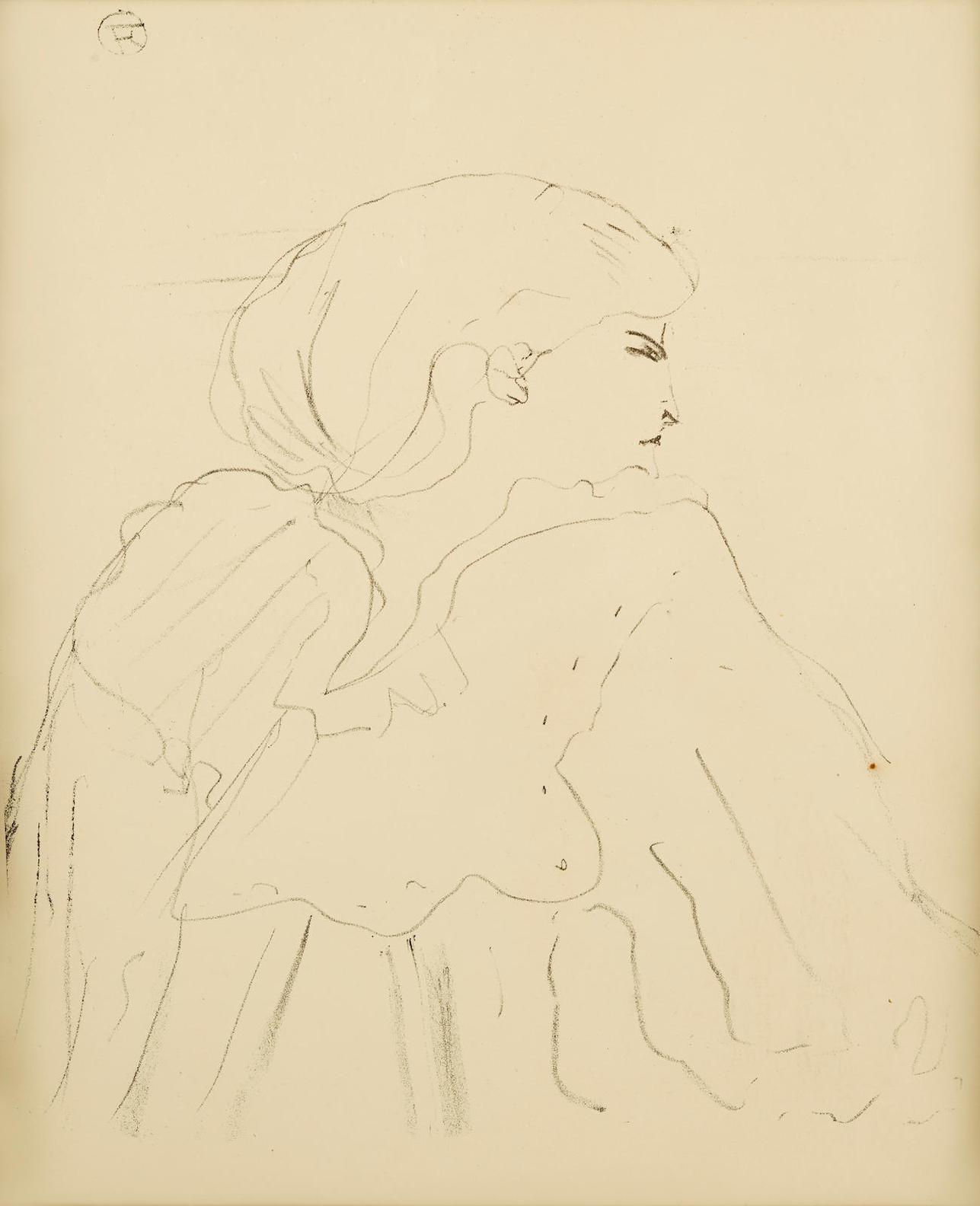 Henri de Toulouse-Lautrec-Jane Harding, From Treize Lithographies-1898